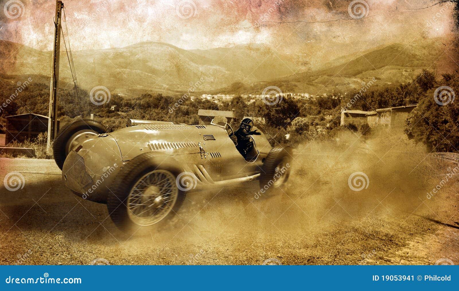 сбор винограда гонки автомобиля