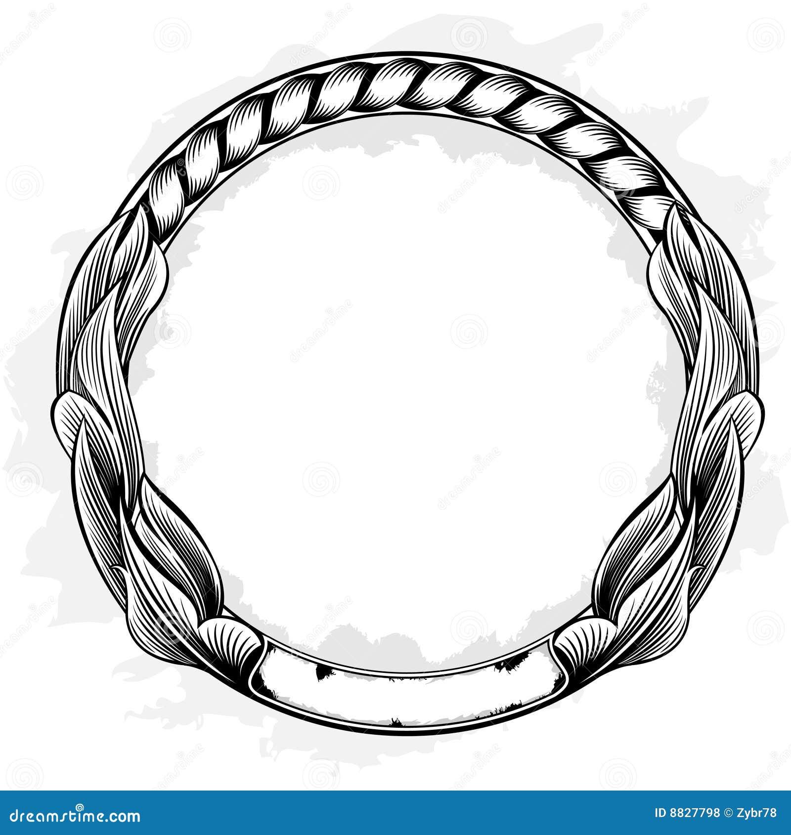 сбор винограда рамки круга