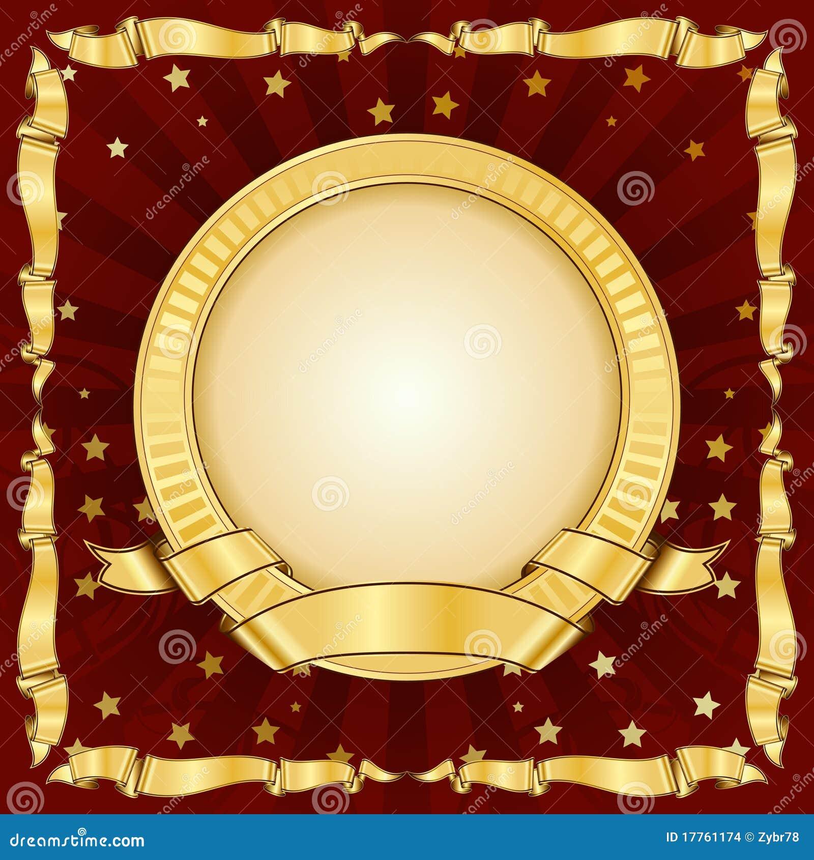 сбор винограда тесемки золота рамки круга