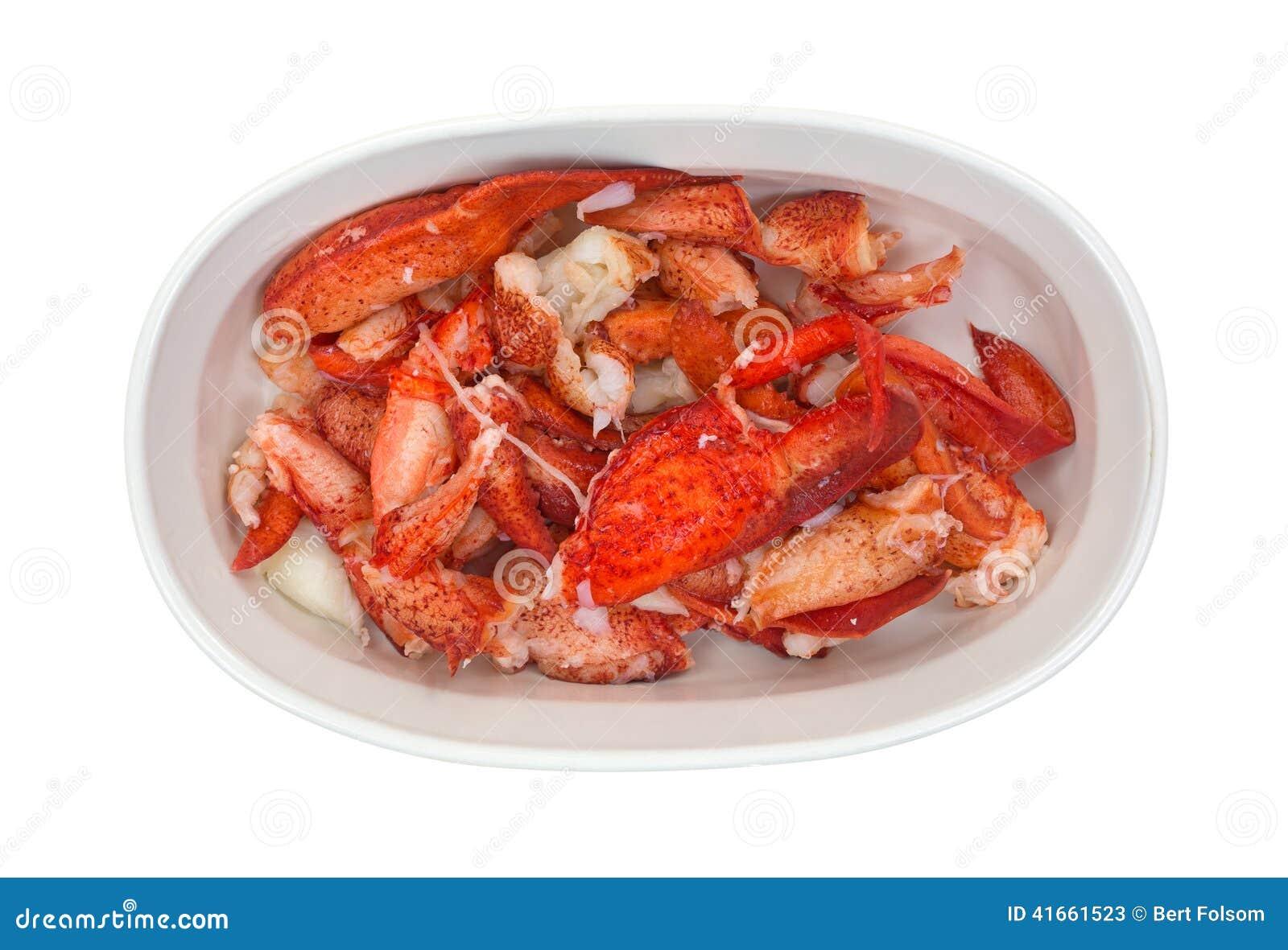 Сваренный омар в малом блюде выпечки