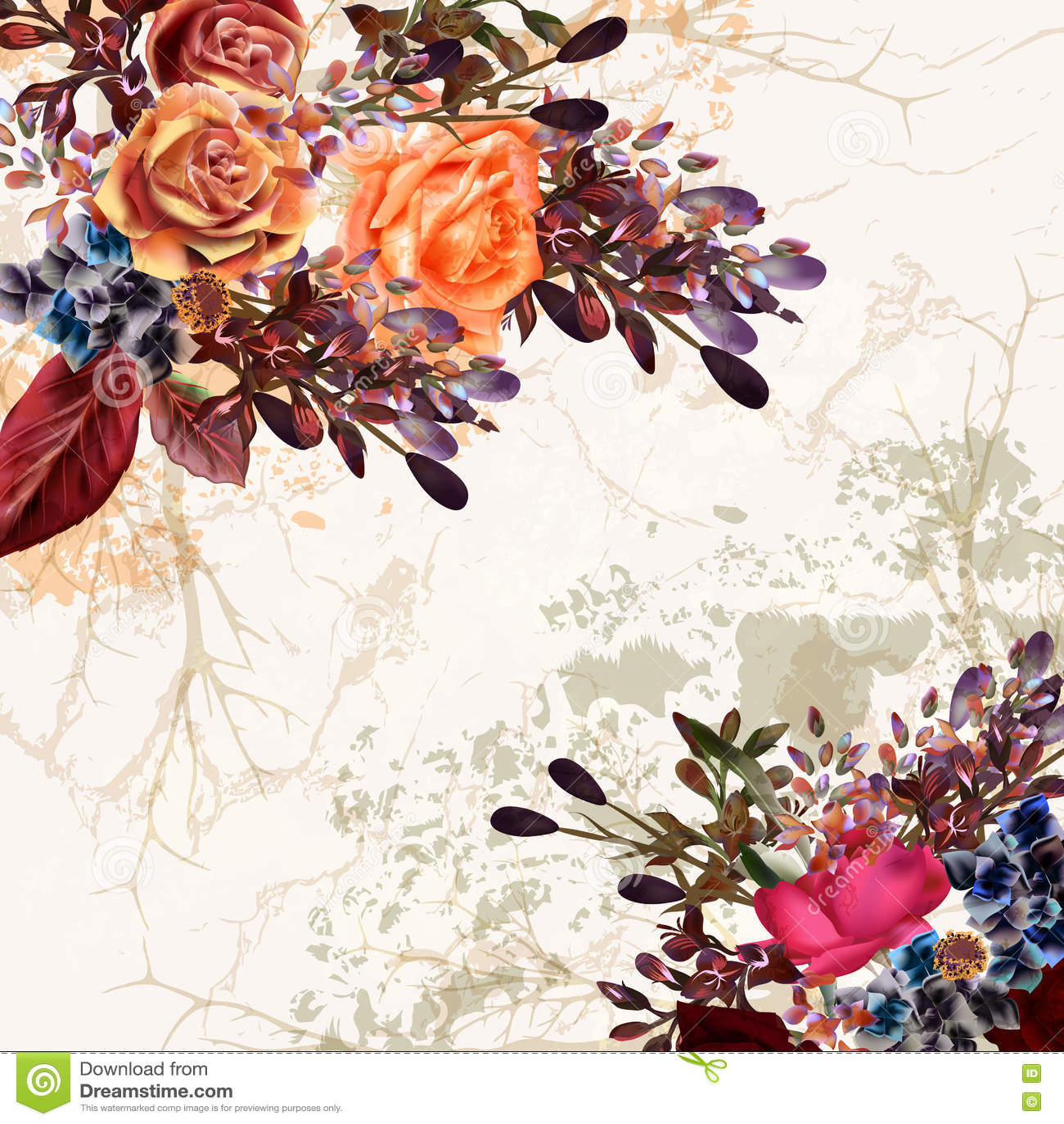 Свадьба Grunge или сохраняет карточку даты с красивой розой пастели