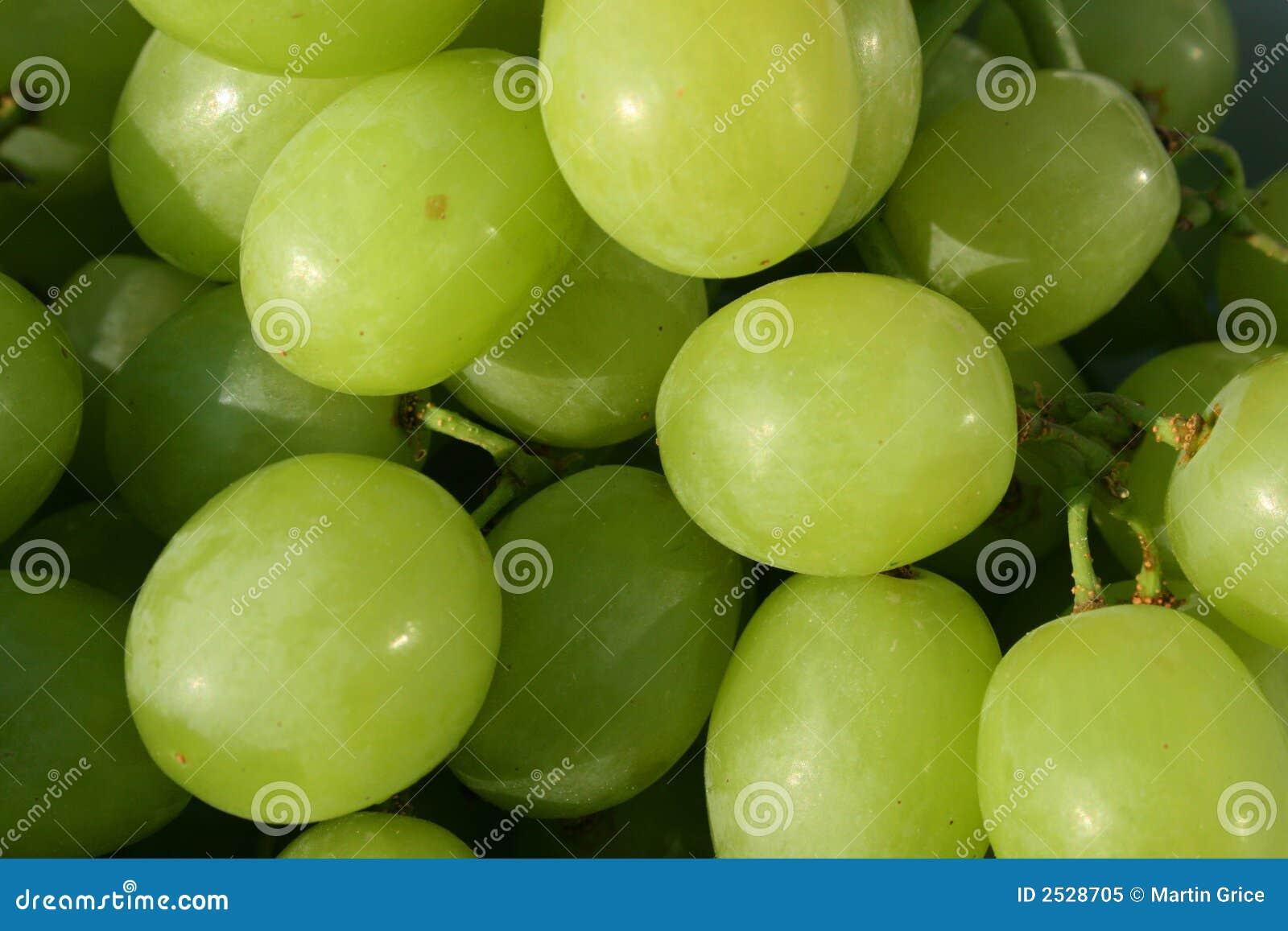 свежие виноградины белые