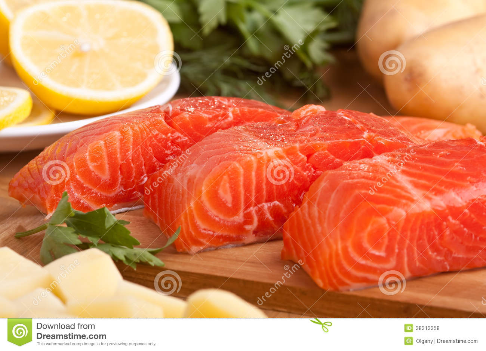 Свежие Salmon части