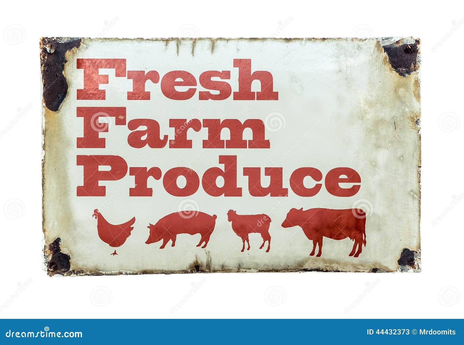 Свежий знак сельскохозяйственной продукции