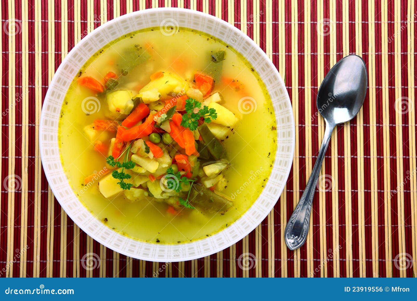 свежий овощ супа