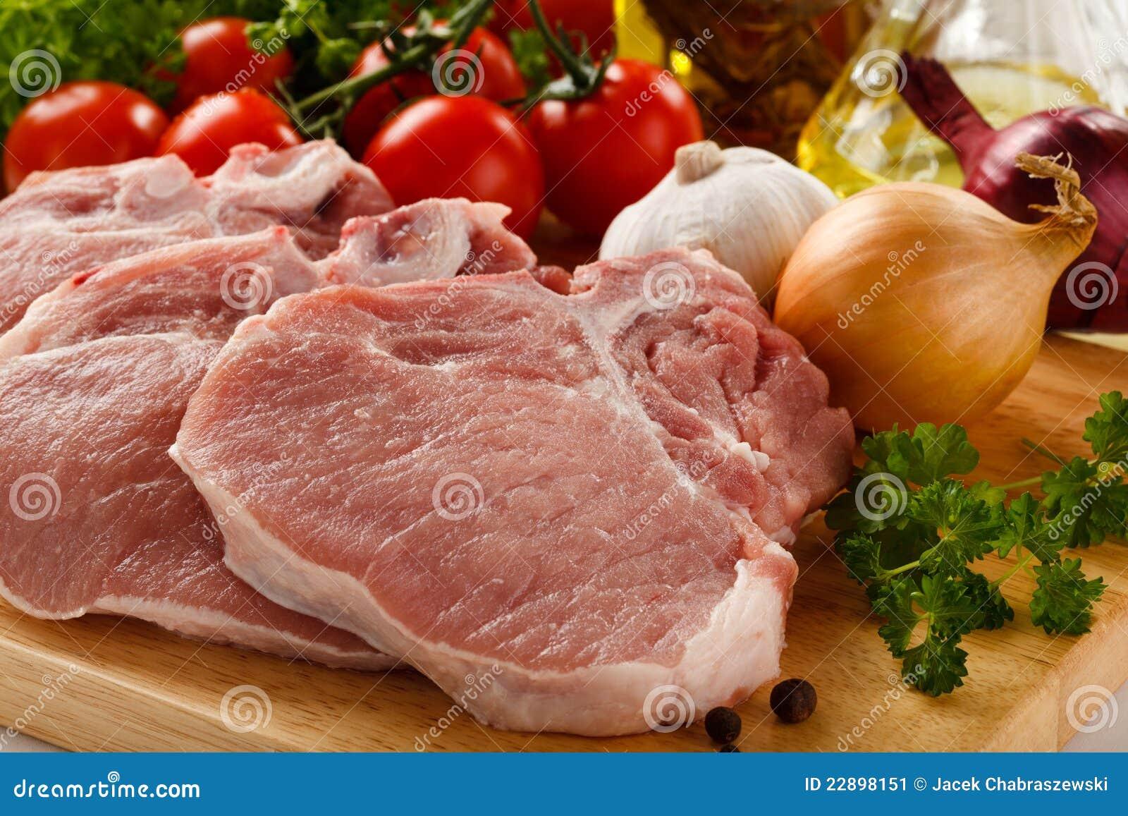 свежий свинина сырцовый