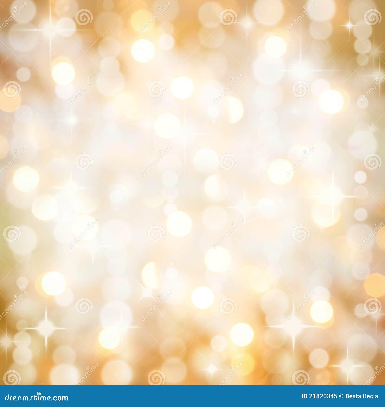 Сверкнать золотистая рождественская вечеринка освещает предпосылку