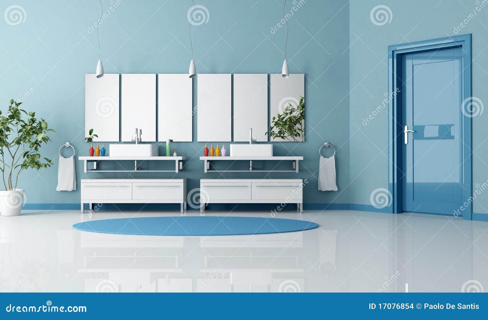 сверстница ванной комнаты голубая