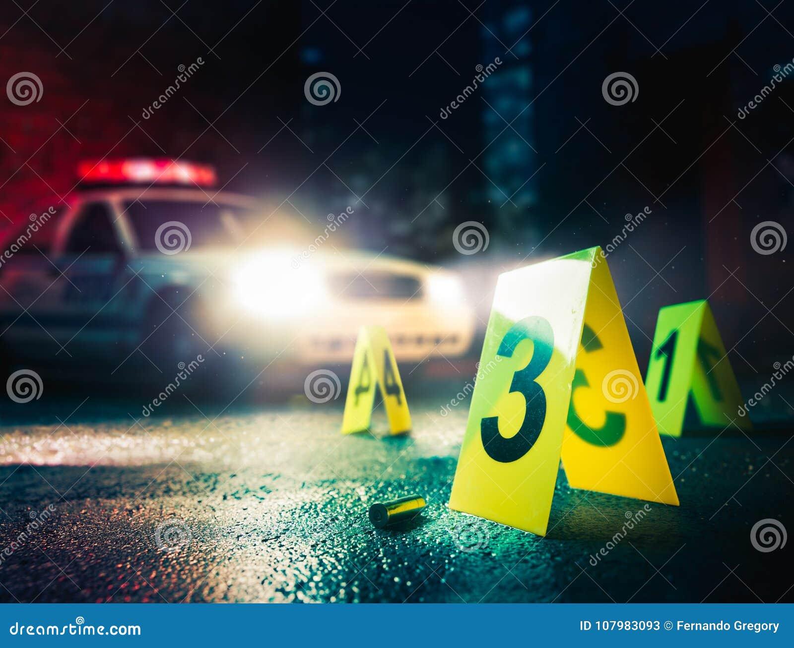 Сверхконтрастное изображение места преступления