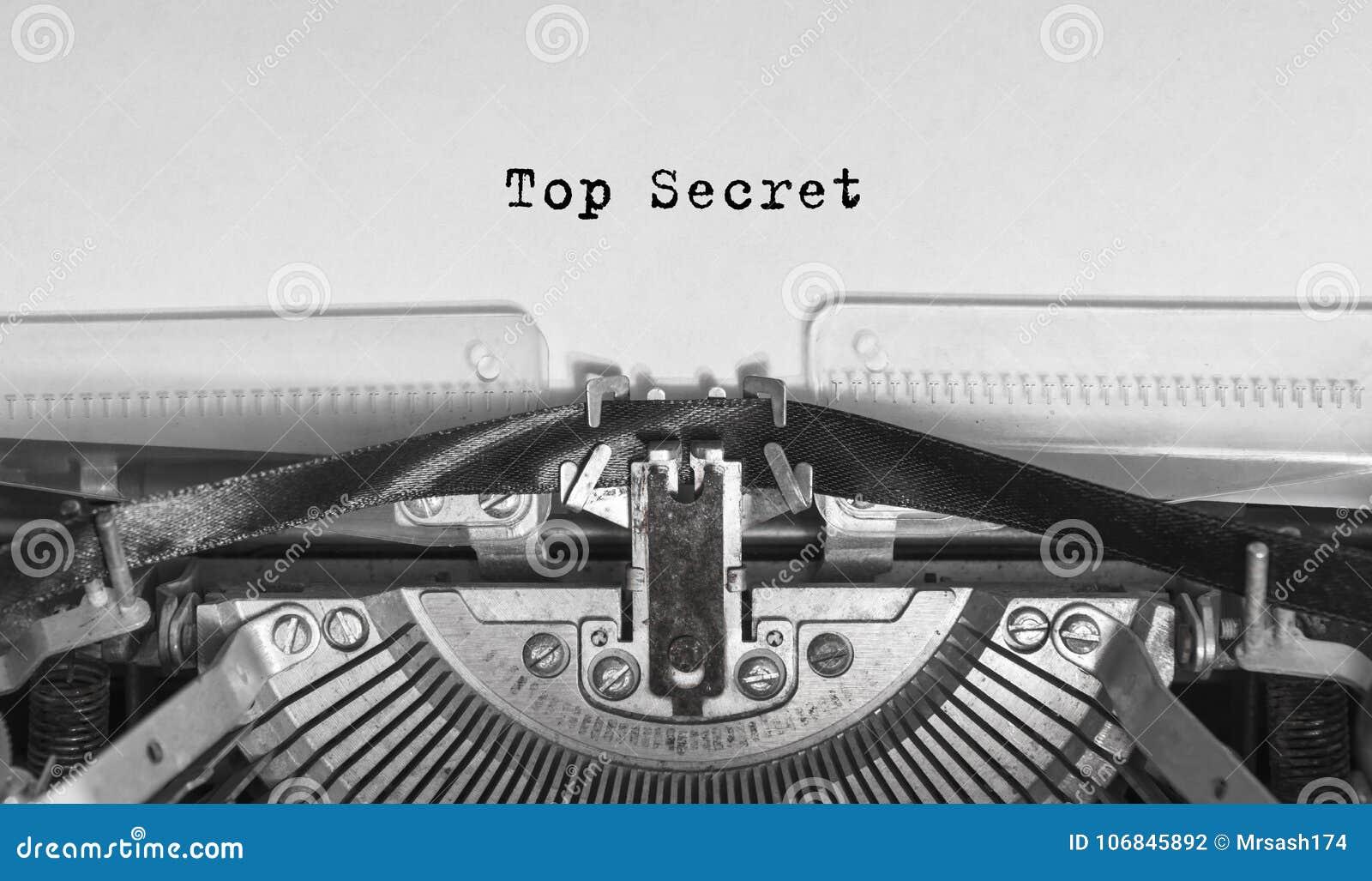 Сверхсекретные напечатанные слова на винтажной машинке