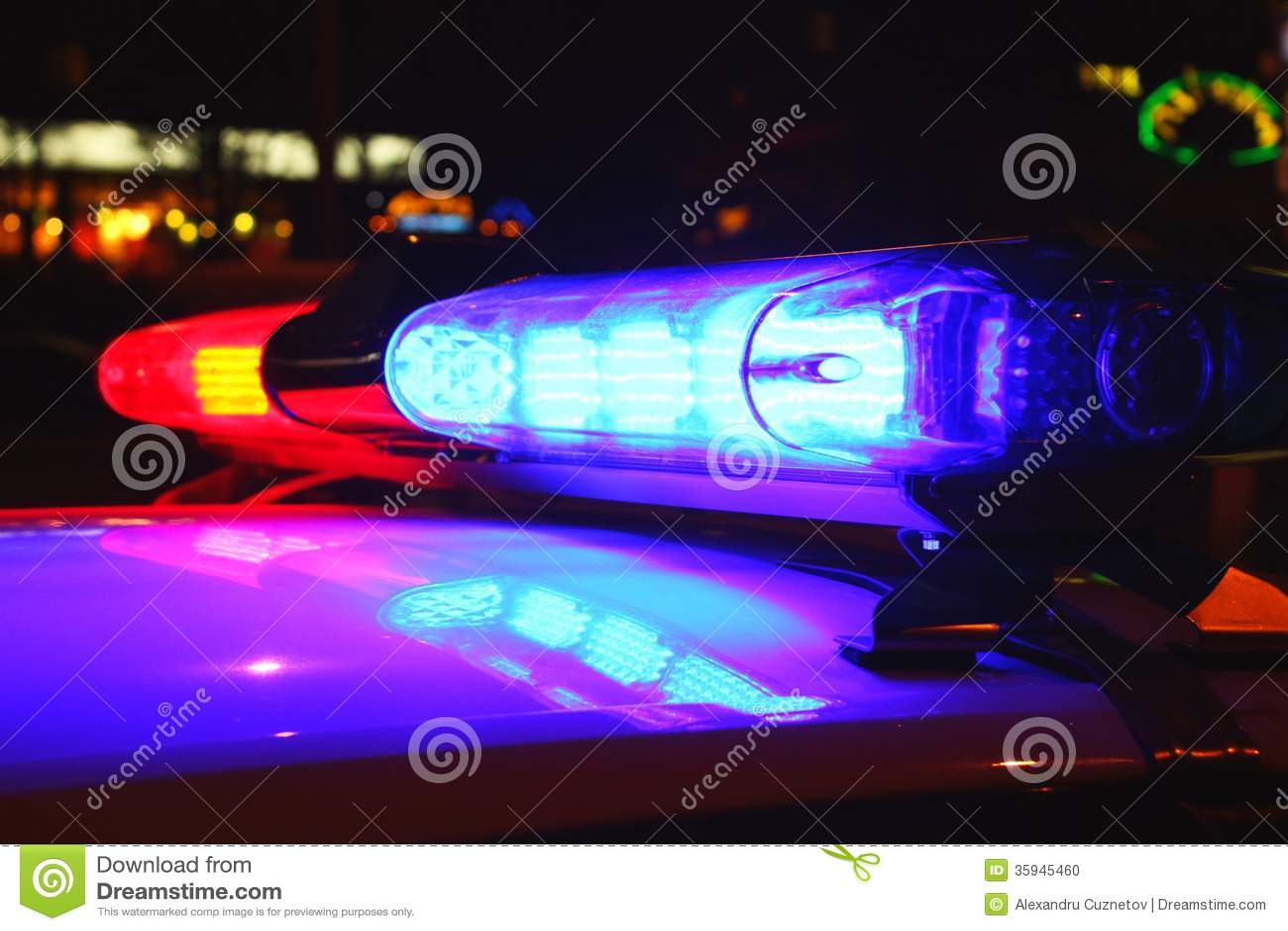 Света полиции к ноча