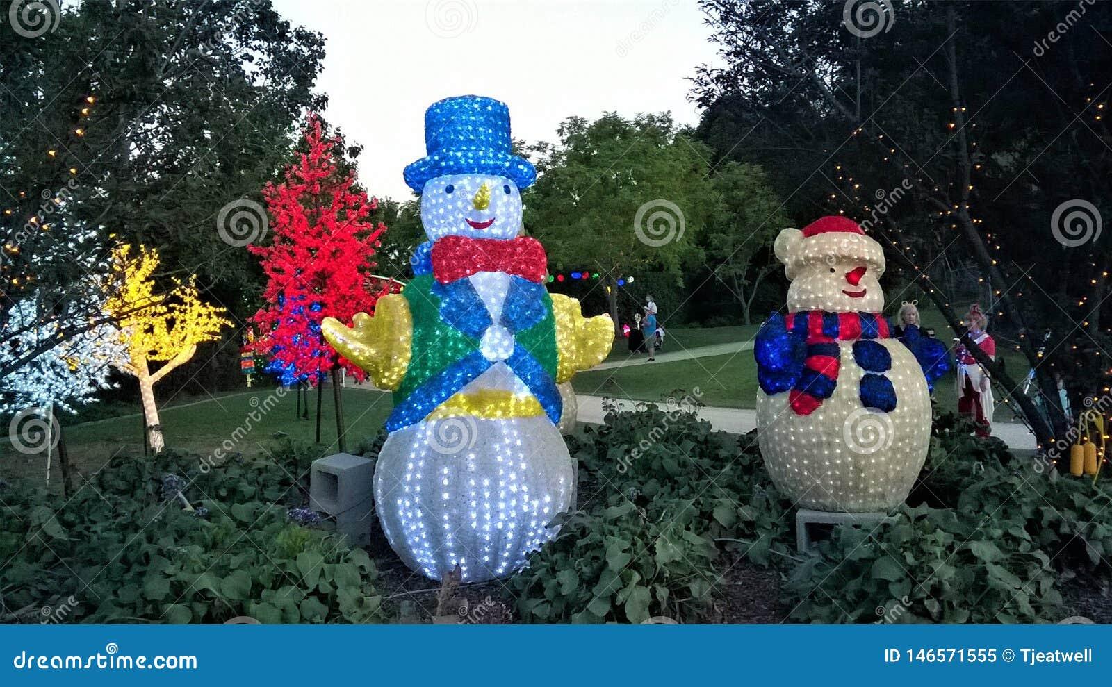 Света рождества Hunter Valley в Австралии