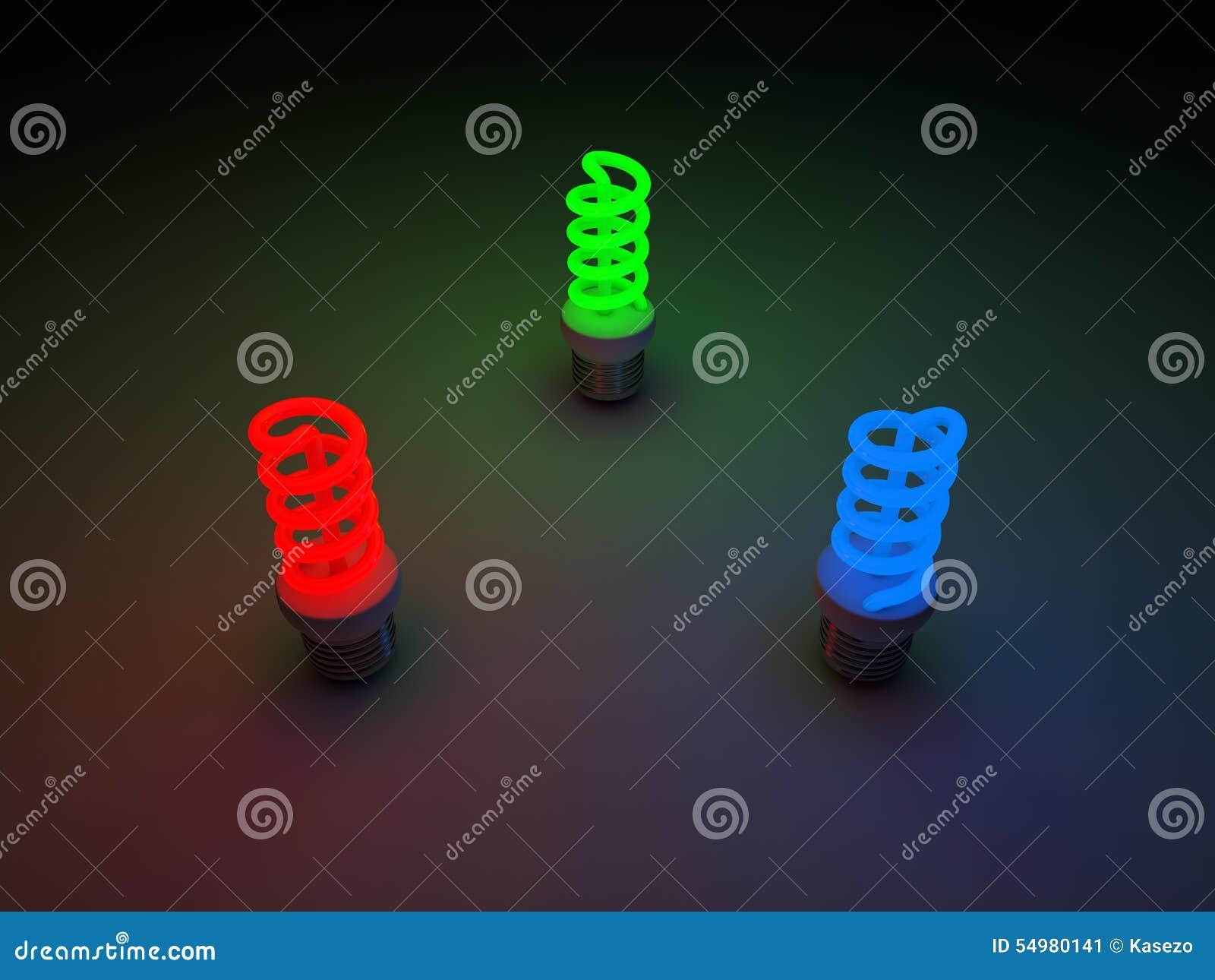светильники голубого зеленого цвета красные