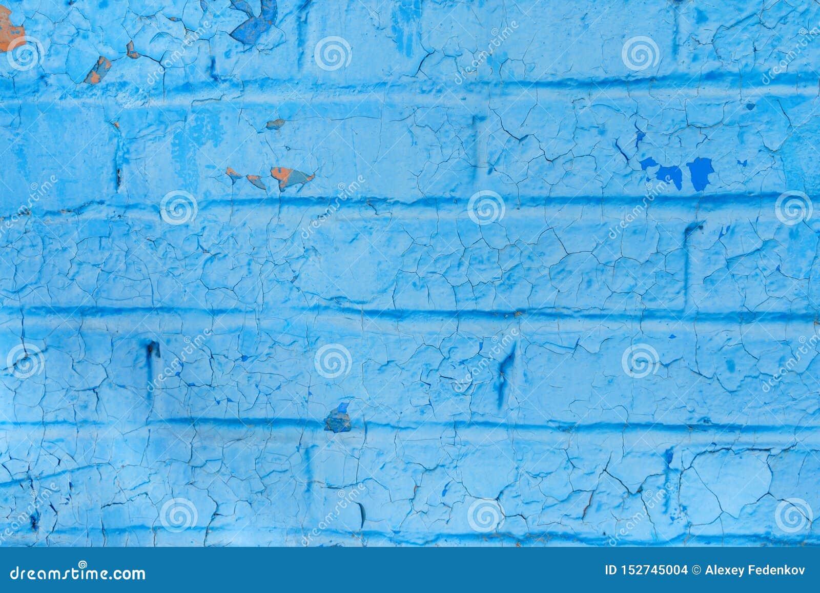Светлый - голубая текстура городской старой винтажной части кирпичной стены