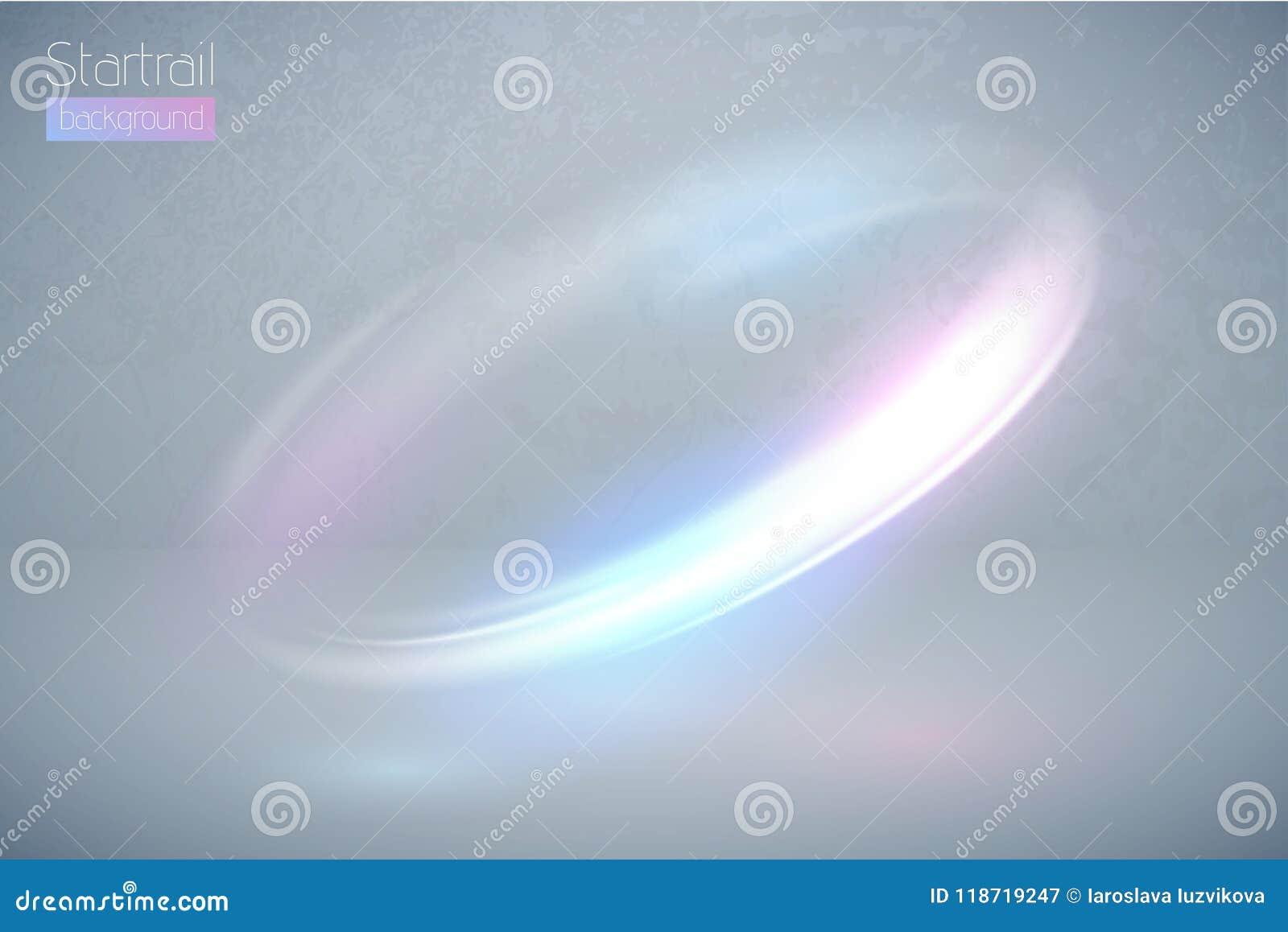 Световой эффект кругового пирофакела multicolor Абстрактная граница эллипсиса галактики Роскошная сияющая вращательная линия заре