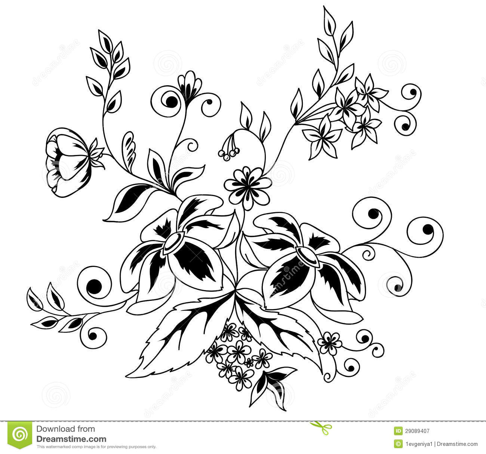 Svetotenevoj Element Konstrukcii Cvetkov I Listev Illyustraciya