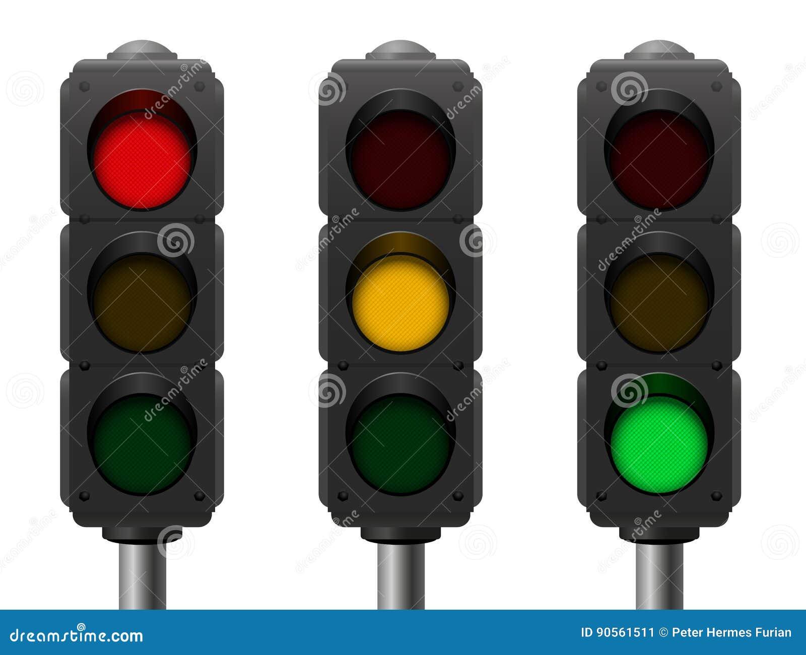 Светофоры 3 различных сигнала