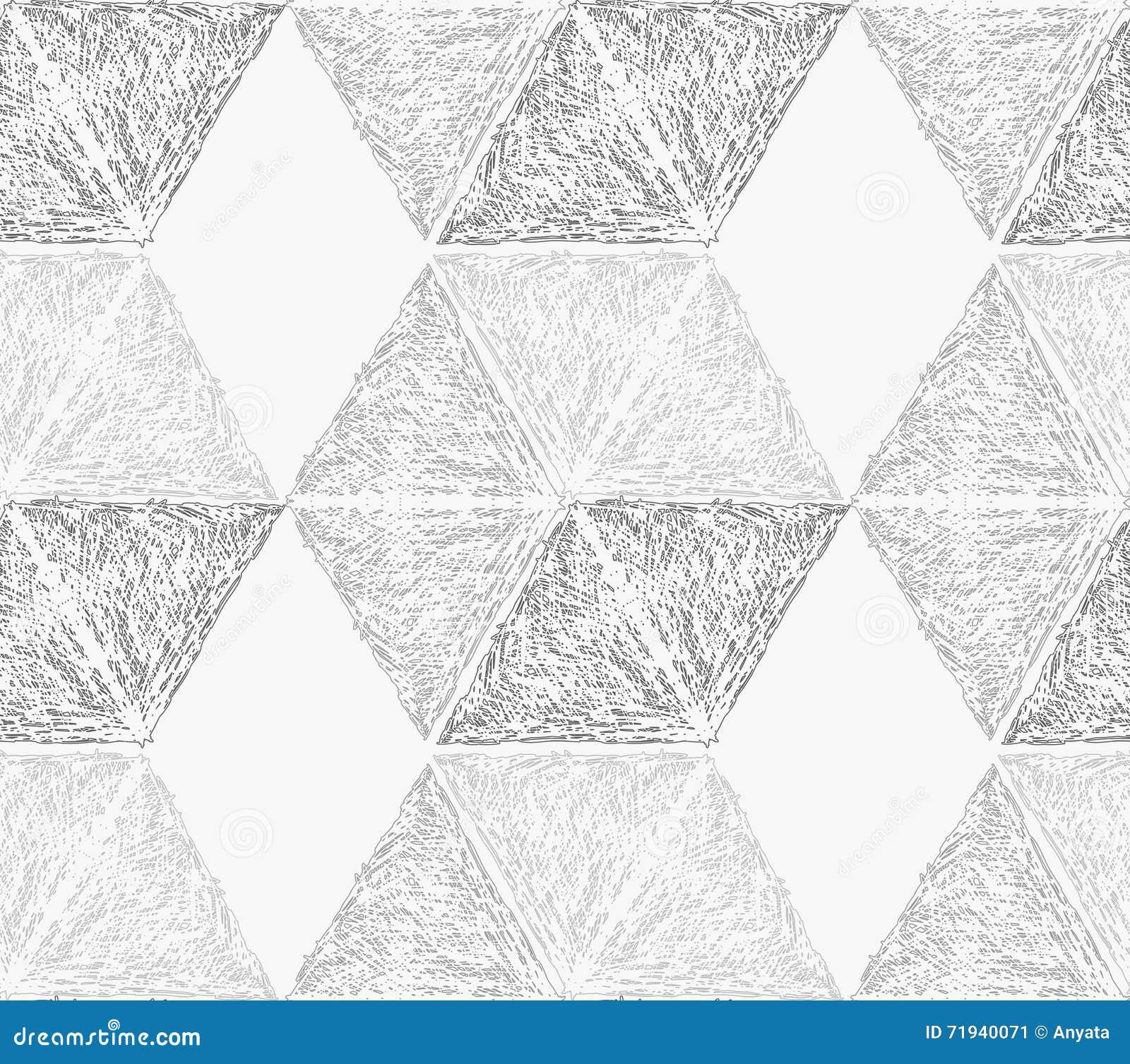 Свет насиженный карандашем - серые шестиугольники