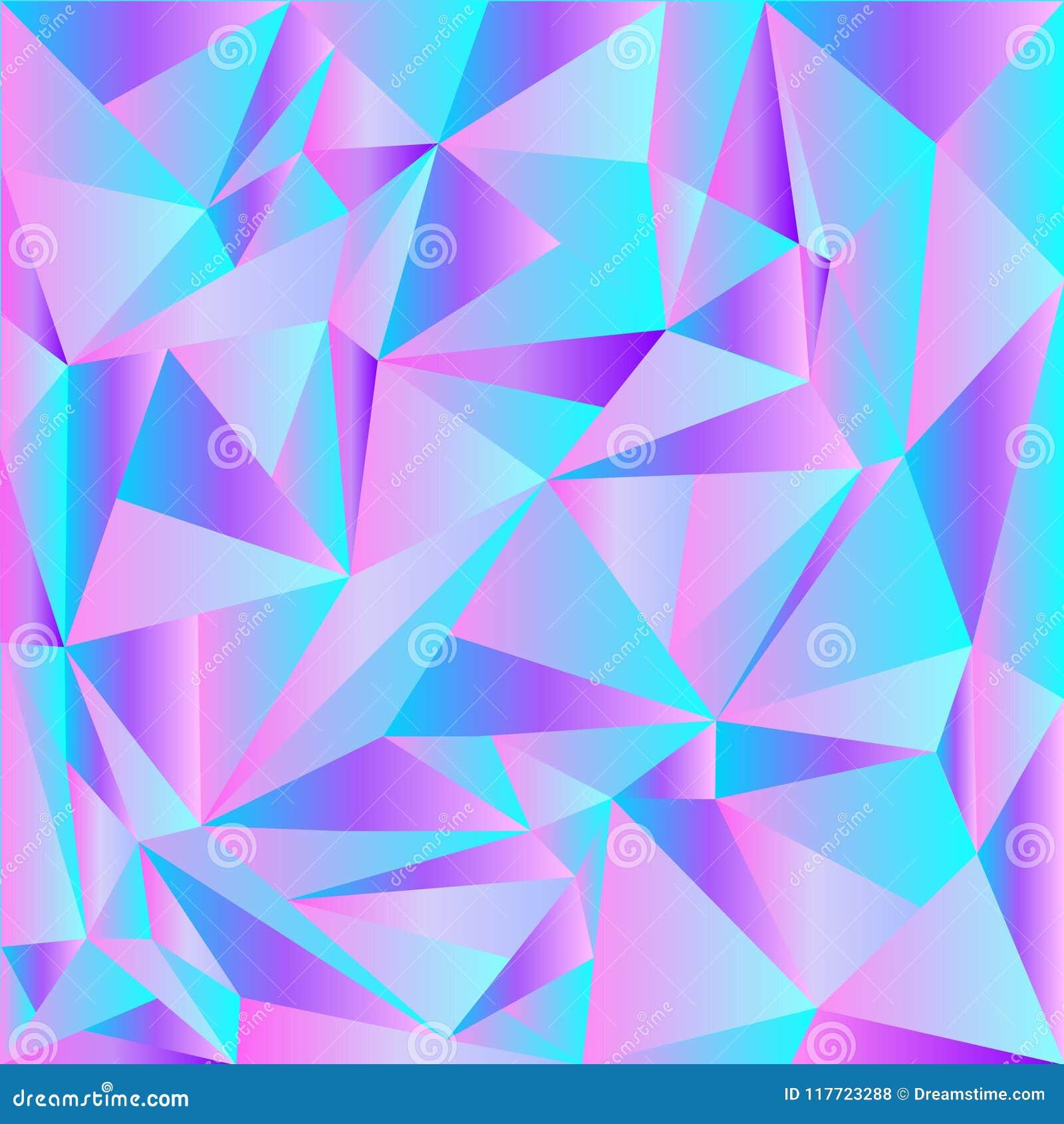 Свет - розовый, фон голубого вектора сияющий триангулярный Совершенно новая иллюстрация цвета в полигональном стиле Совершенно но