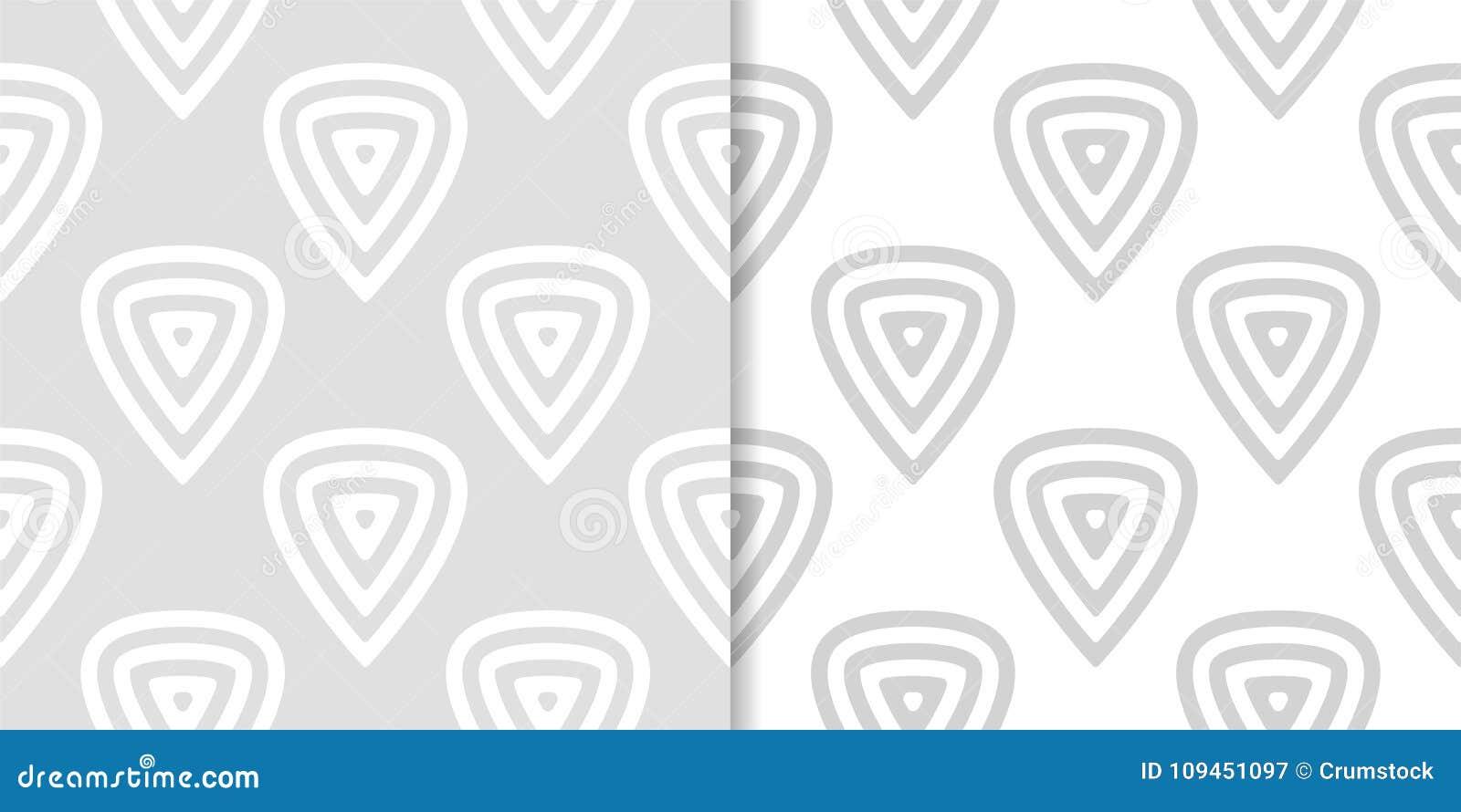 Свет - серые геометрические безшовные картины