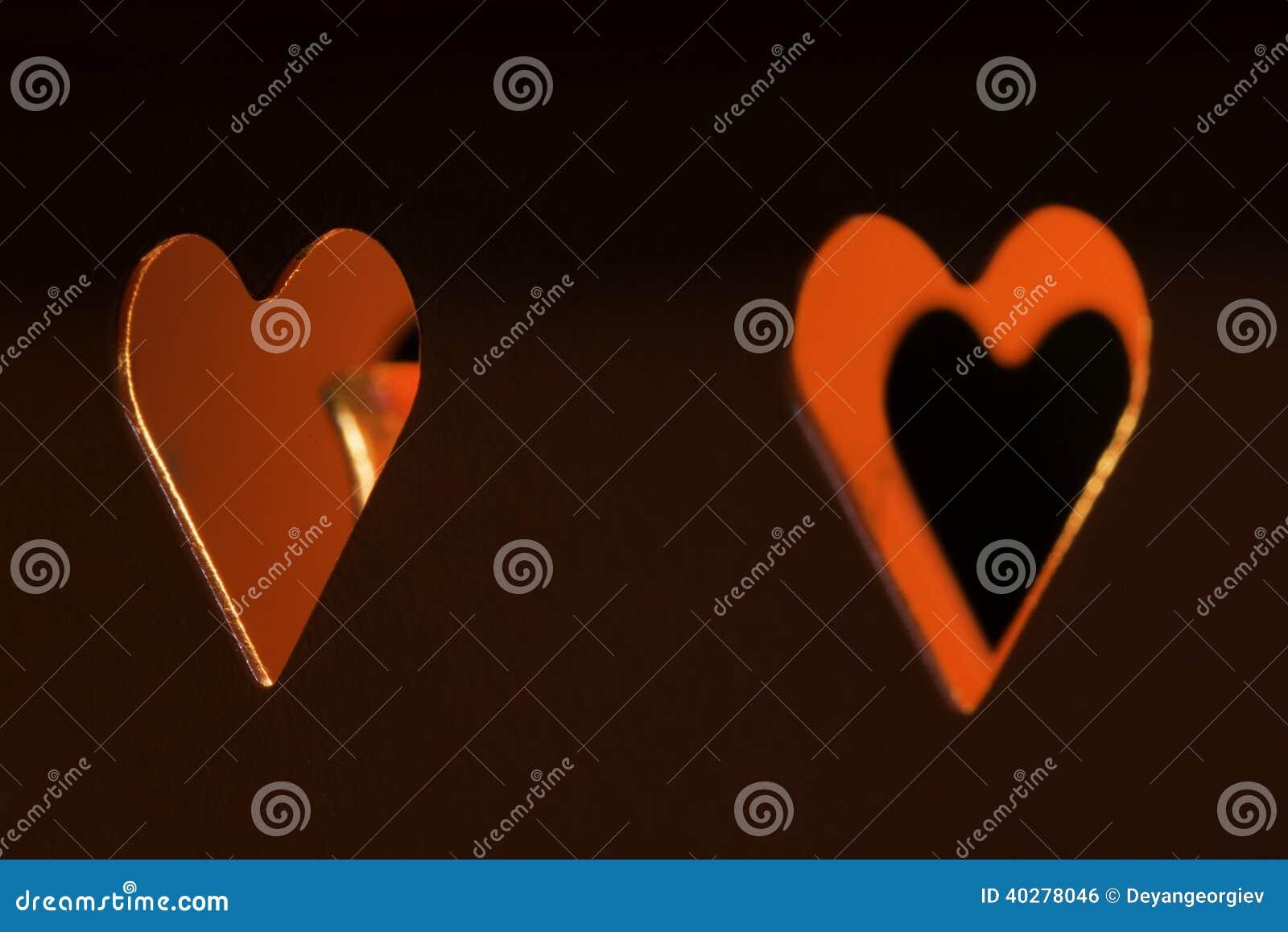 Свечи и формы сердца