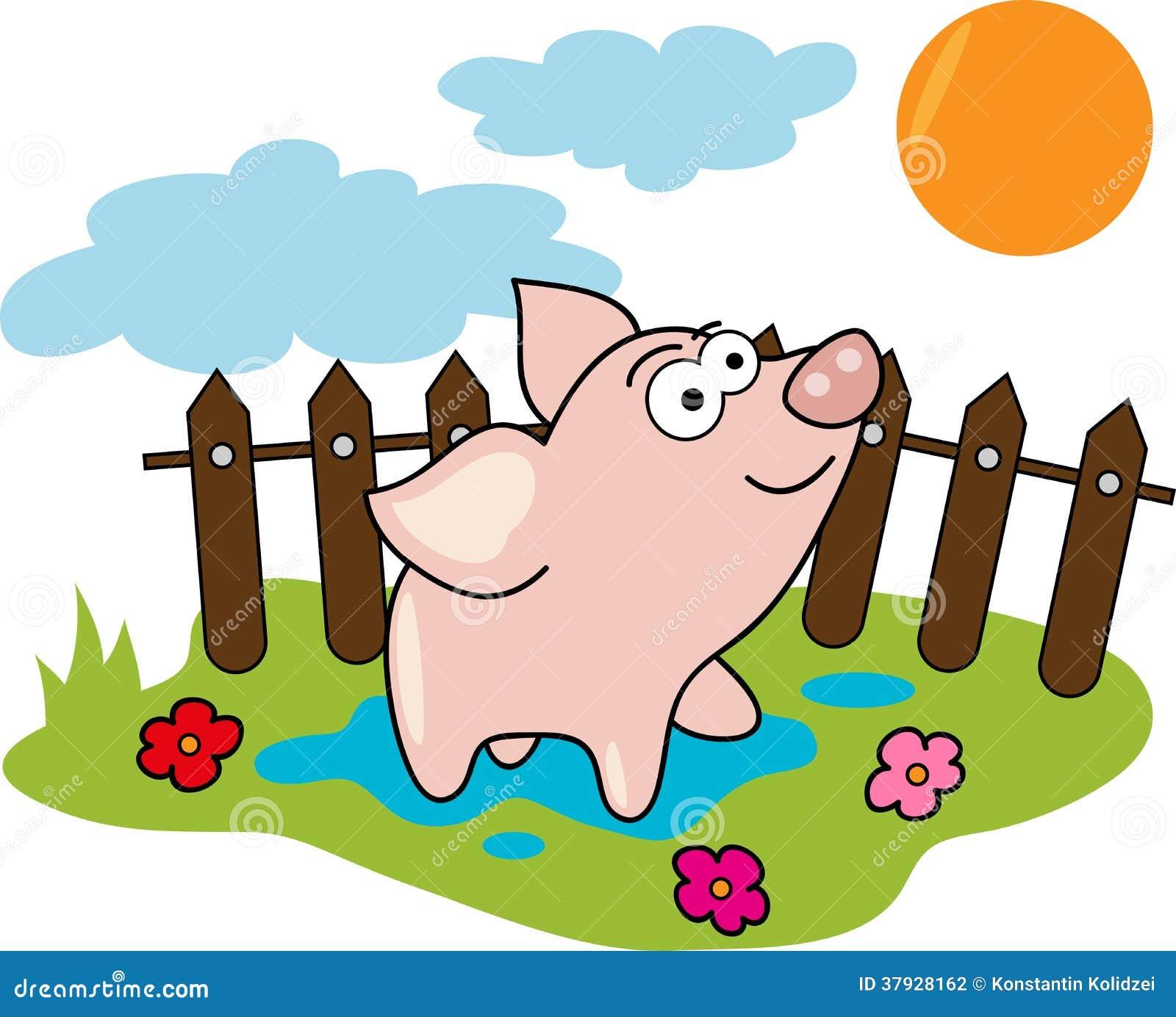 Свинья шаржа
