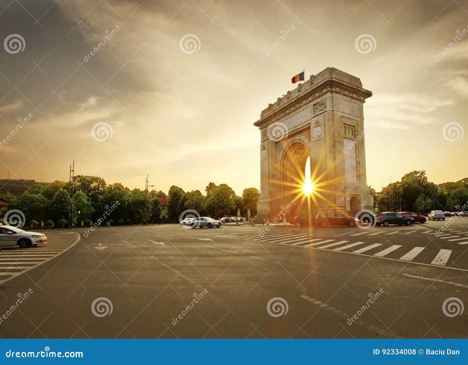 Свод de триумфа Бухареста, Румынии Arcul de triumf
