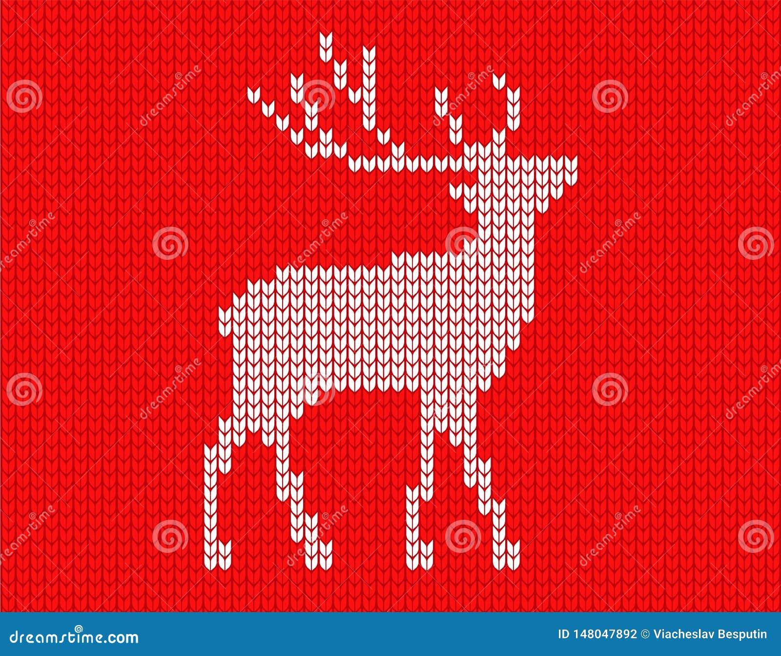 Связанные олени в пикселах