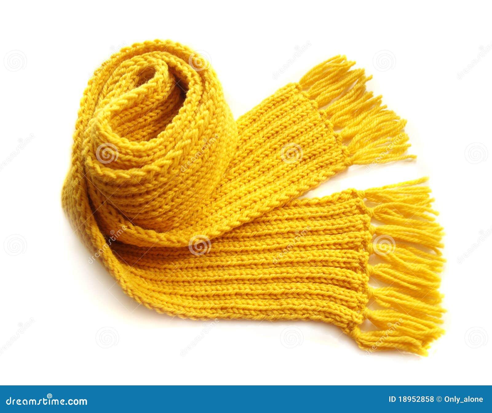 связанный желтый цвет шарфа
