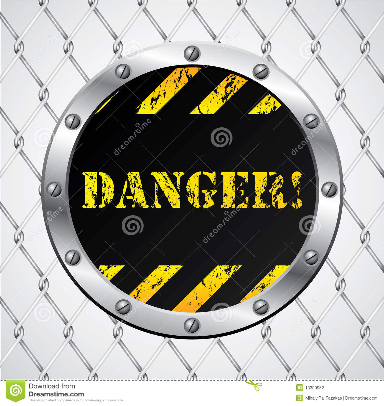 связанный проволокой знак загородки опасности
