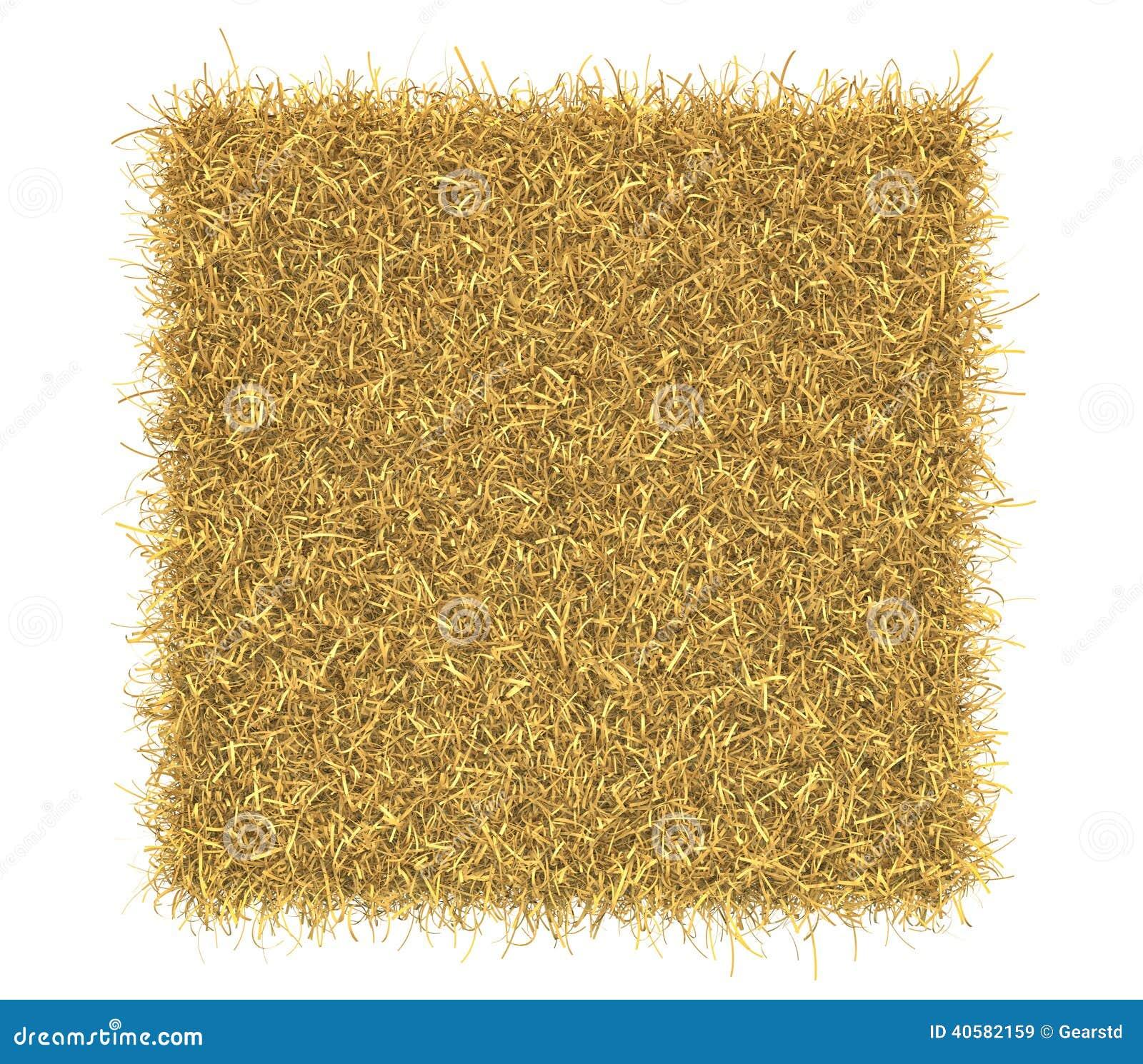 Связка сена изолированная на белой предпосылке