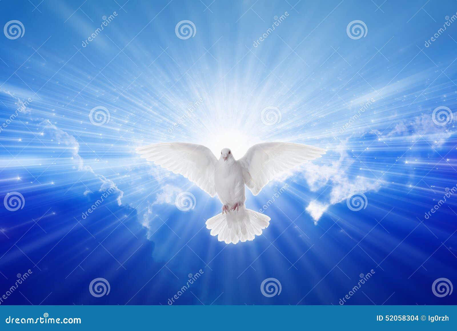 Святой дух пришел вниз как голубь