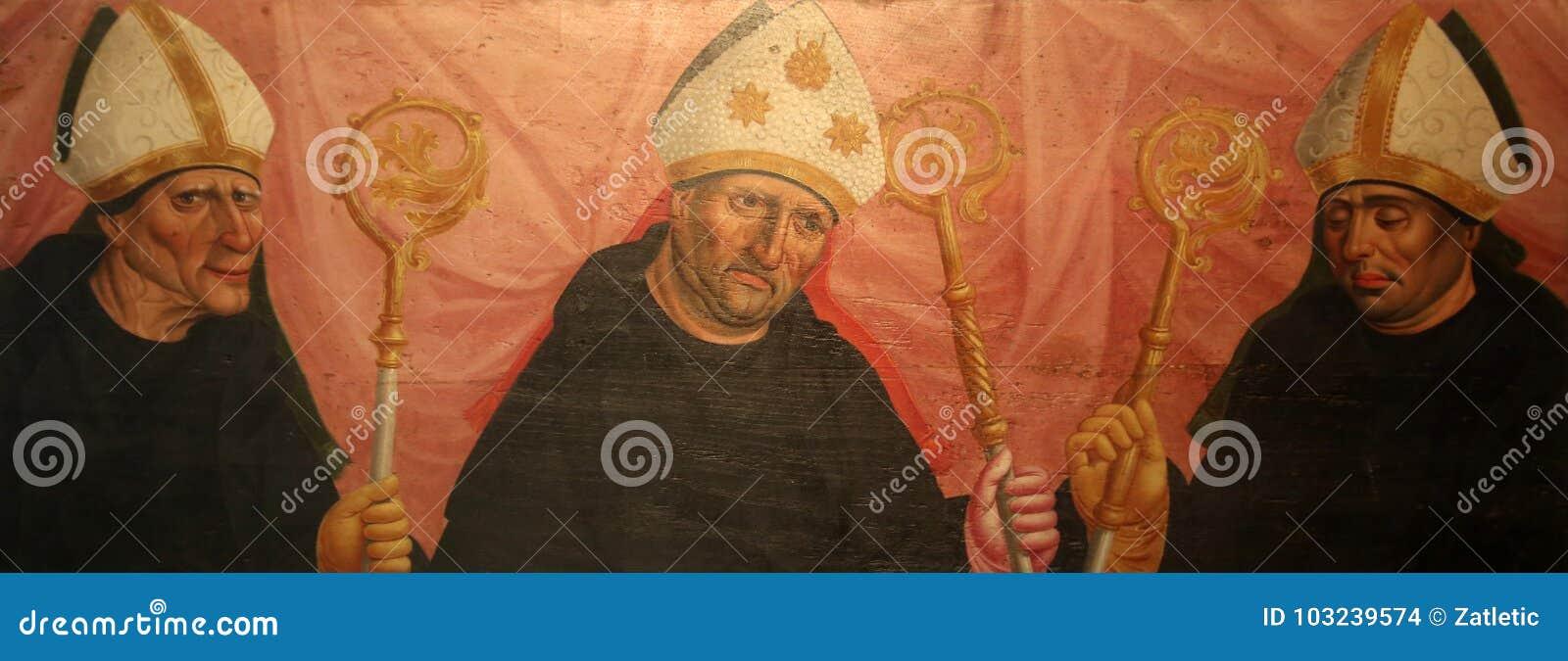 Святые, altarpiece в аббатстве Benediktbeuern базилики Венедикта Святого известном, Германии