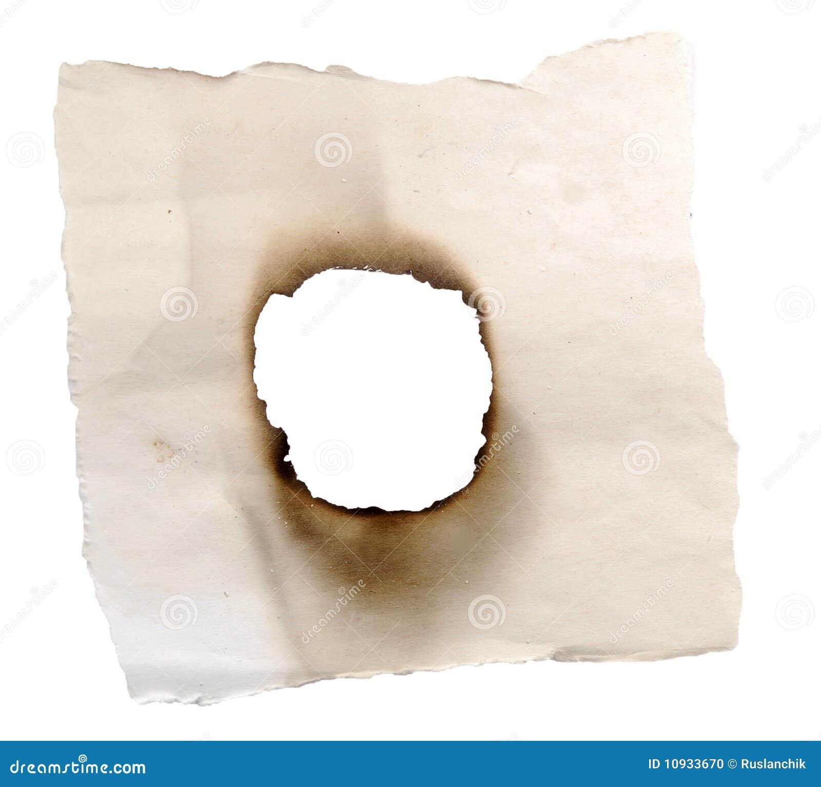 сгорели отверстие