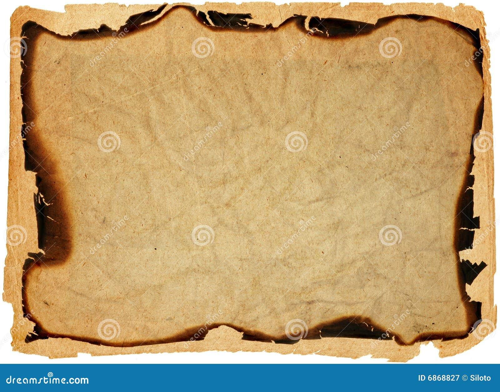 сгорели antique, котор окаймляет бумагу