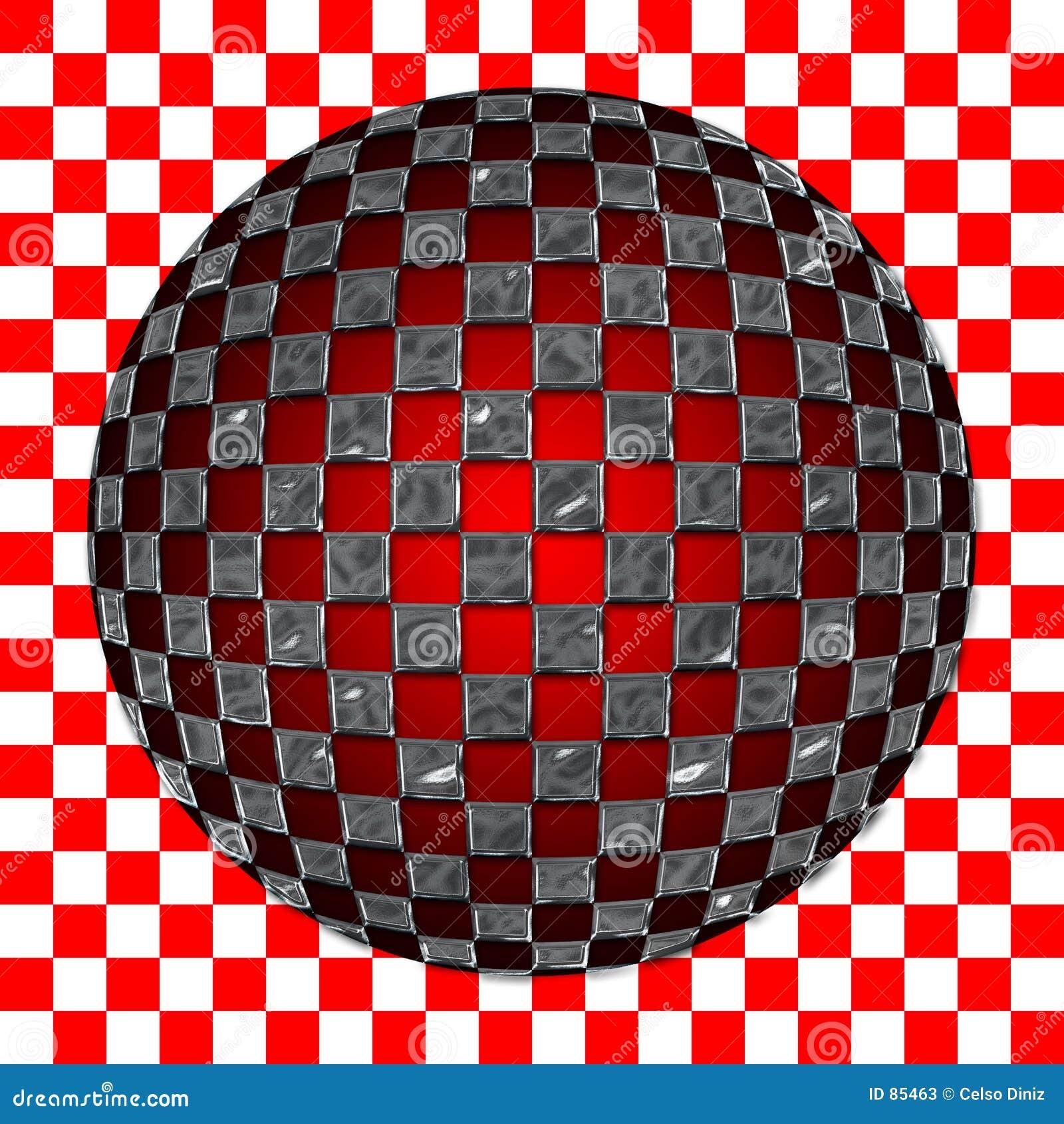 сделайте по образцу spherized серебр приданным квадратную форму