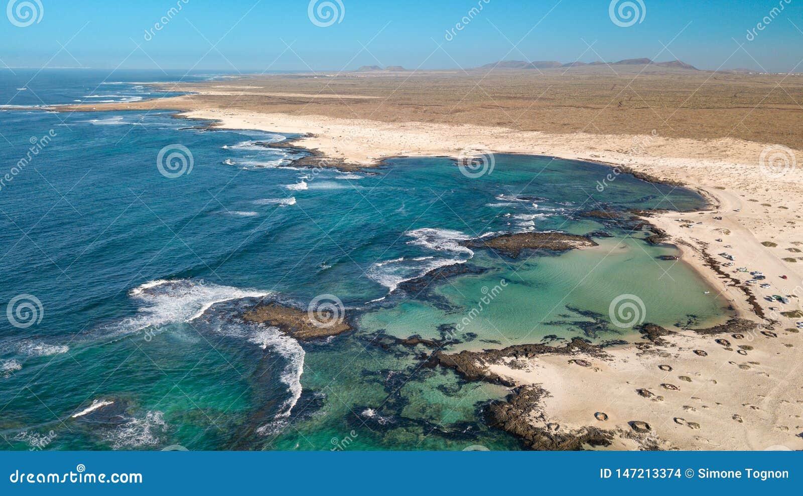 Северное побережье вида с воздуха Фуэртевентуры