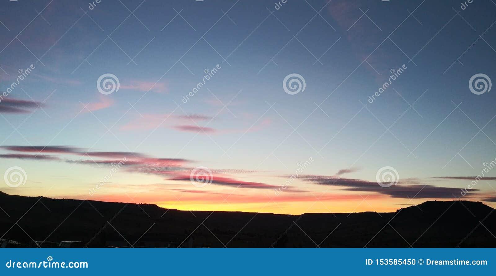 северозапад природы заходов солнца красивый