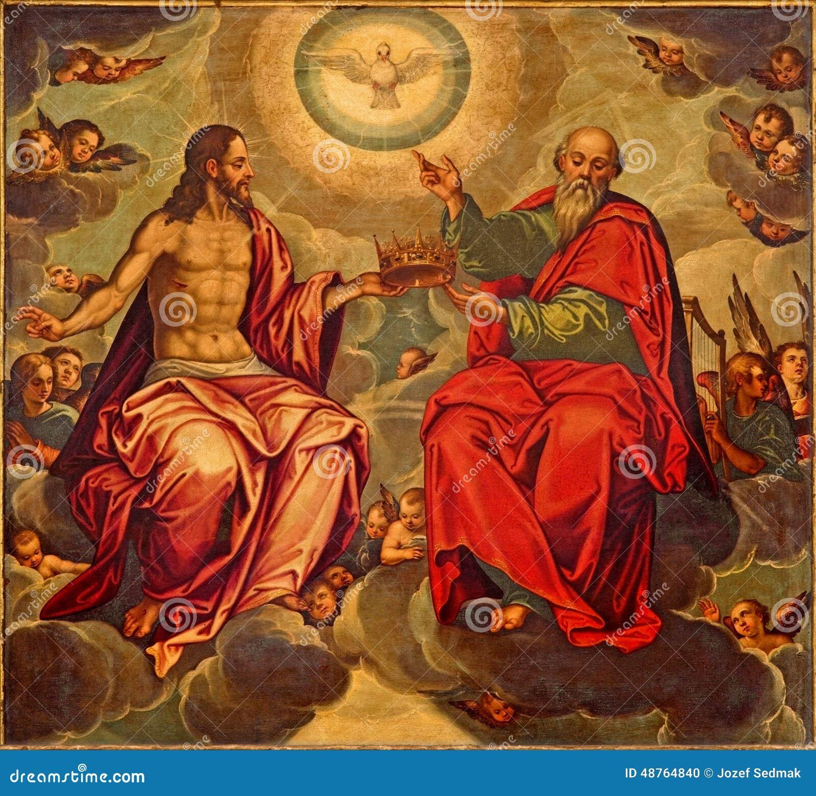 Севилья - краска святой троицы в церков Iglesia de Ла Anunciacion Marcelo Coffermans (1560)