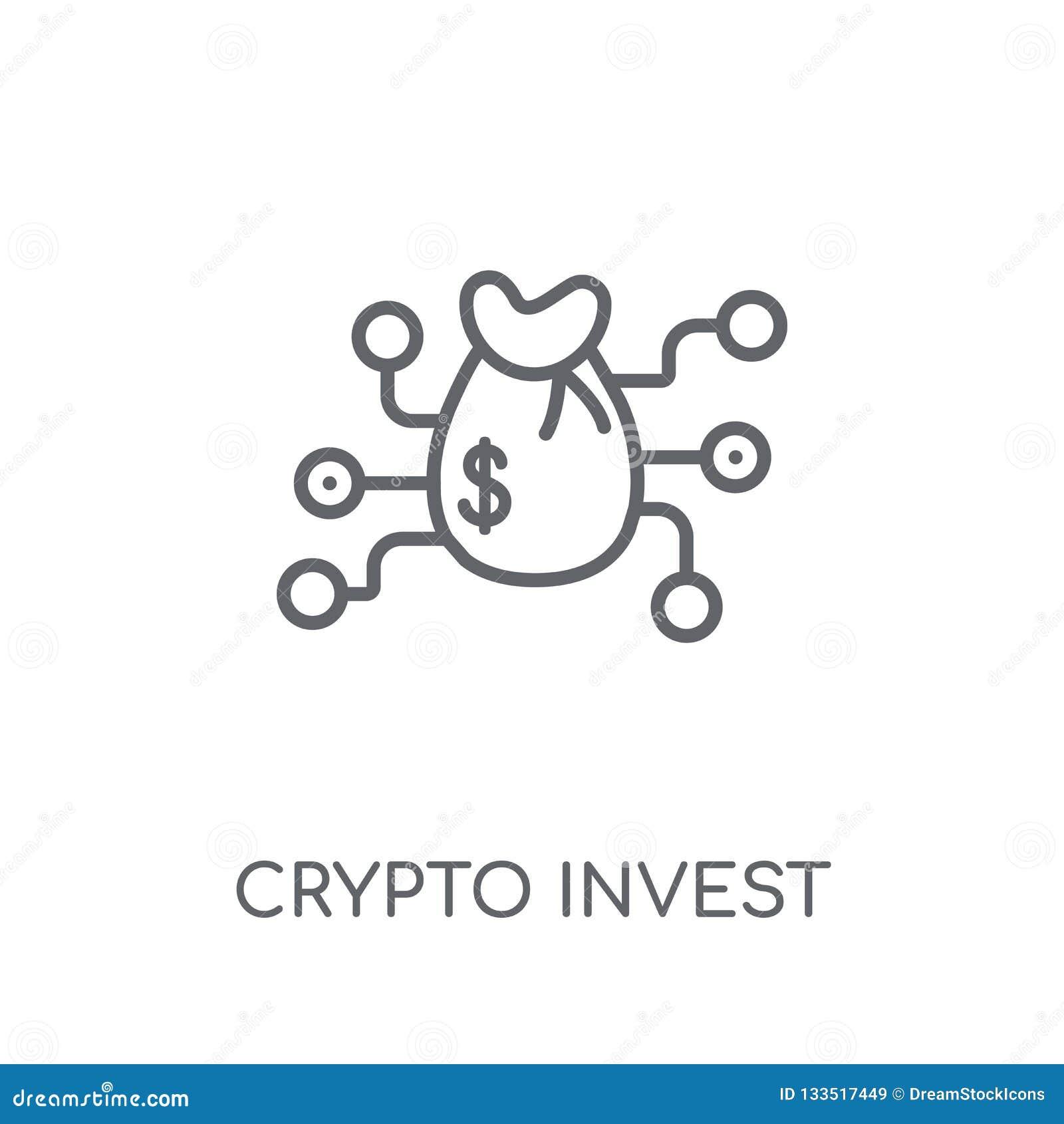 секретный проинвестируйте линейный значок Современный план секретный инвестирует жулика логотипа