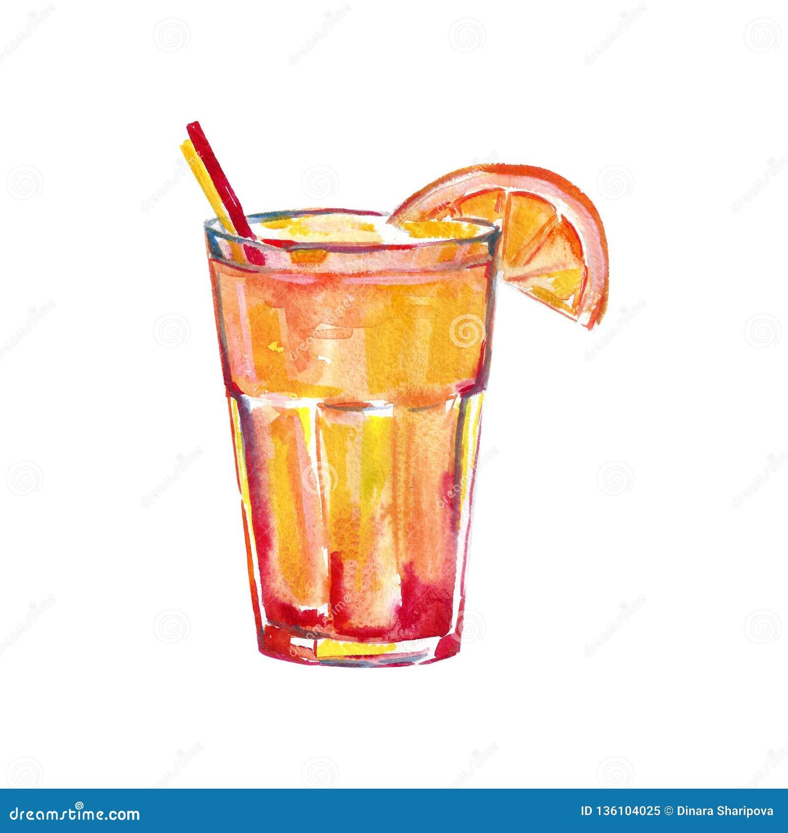 Секс на иллюстрации акварели пляжа, изображение коктейля для меню в баре