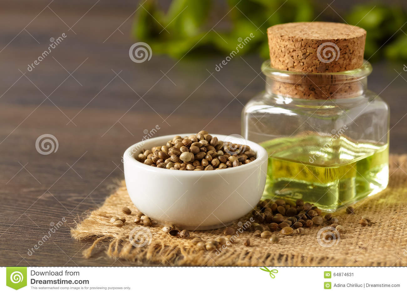 Семена и масло пеньки
