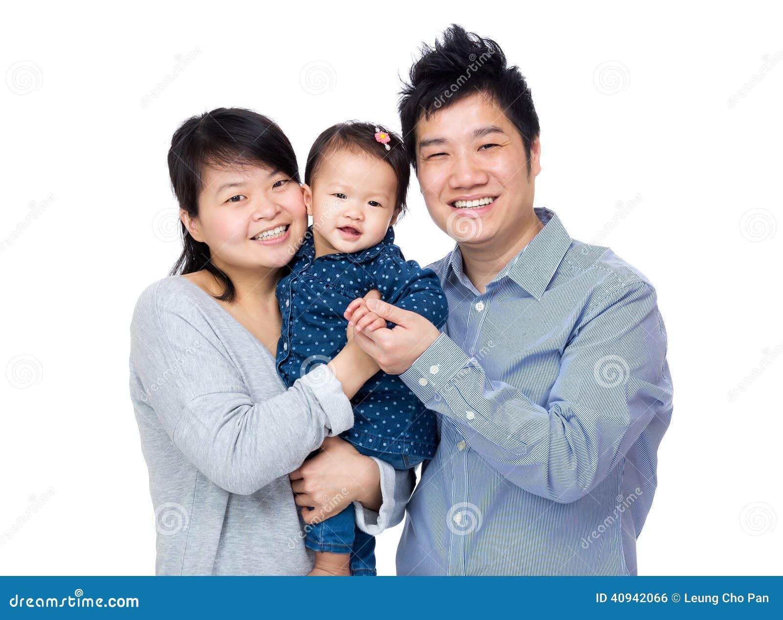 Семья Азии счастливая