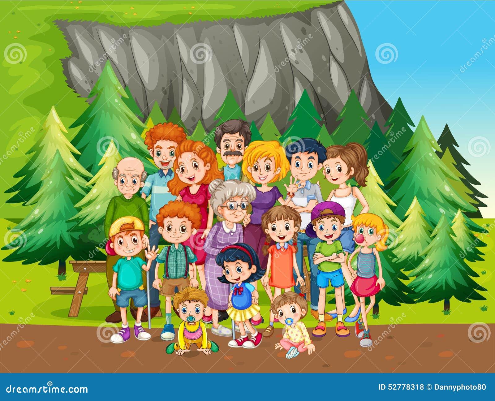 Семья и парк