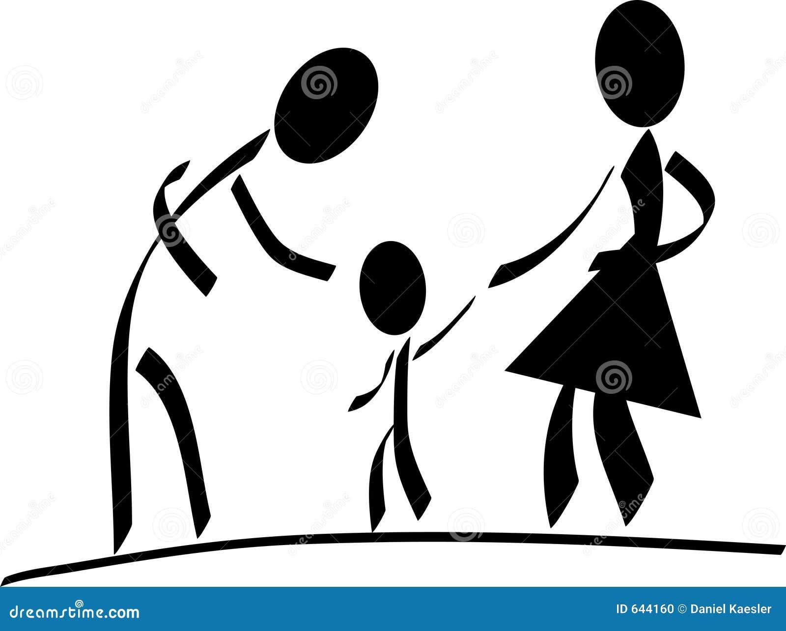 Download семья счастливая иллюстрация вектора. иллюстрации насчитывающей супруга - 644160