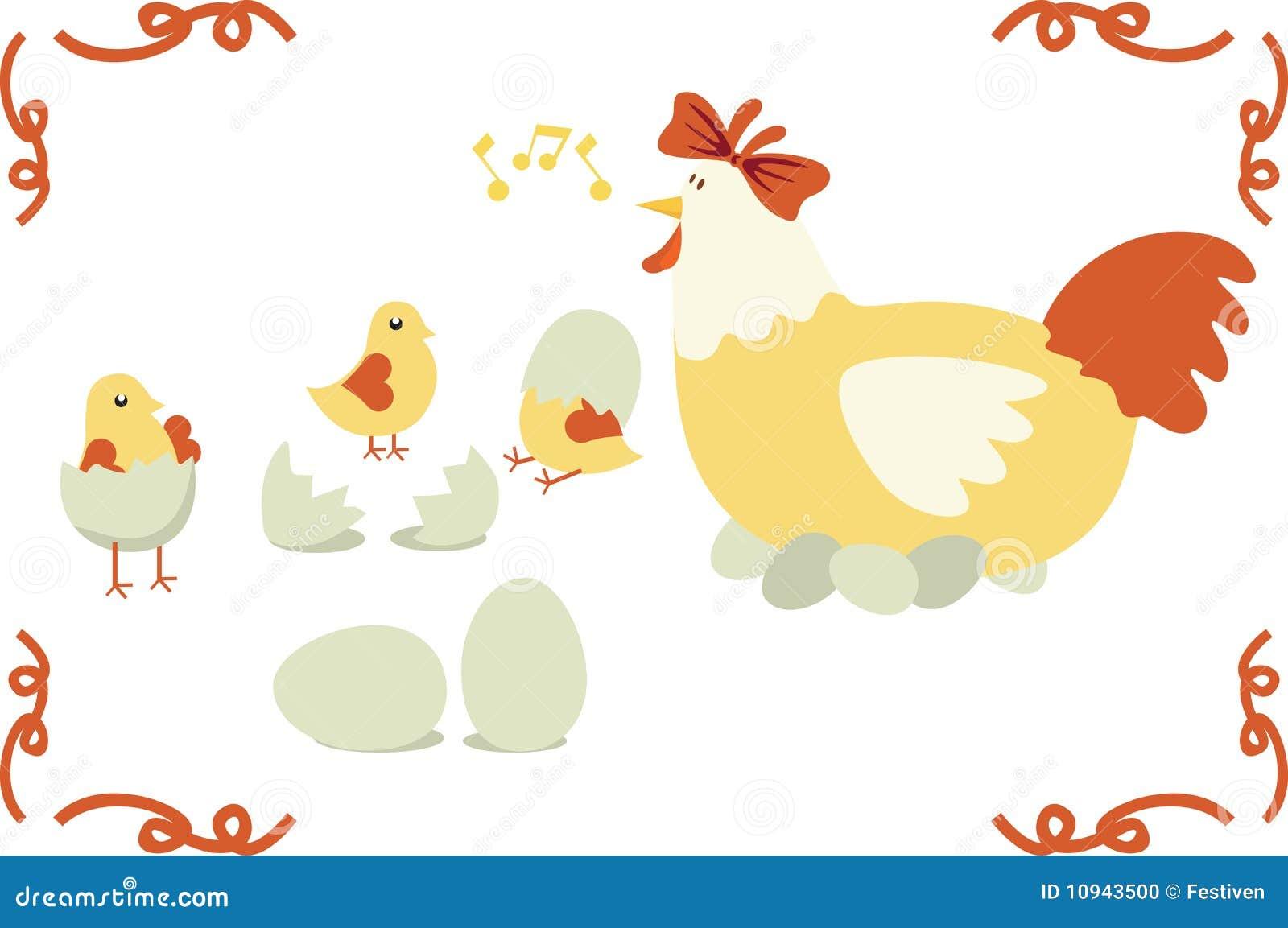 семья цыпленка