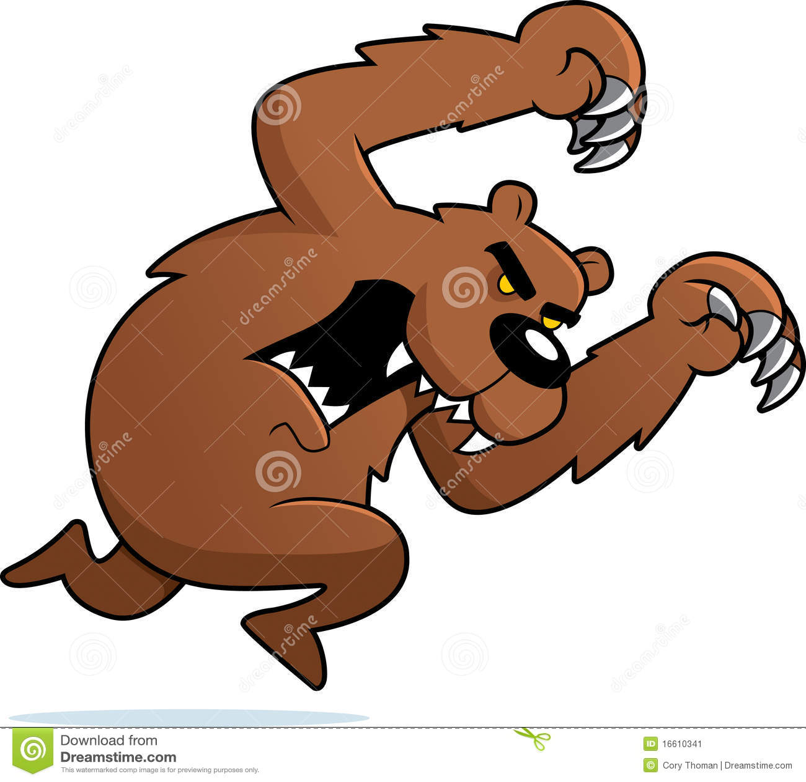 сердитый атакуя медведь