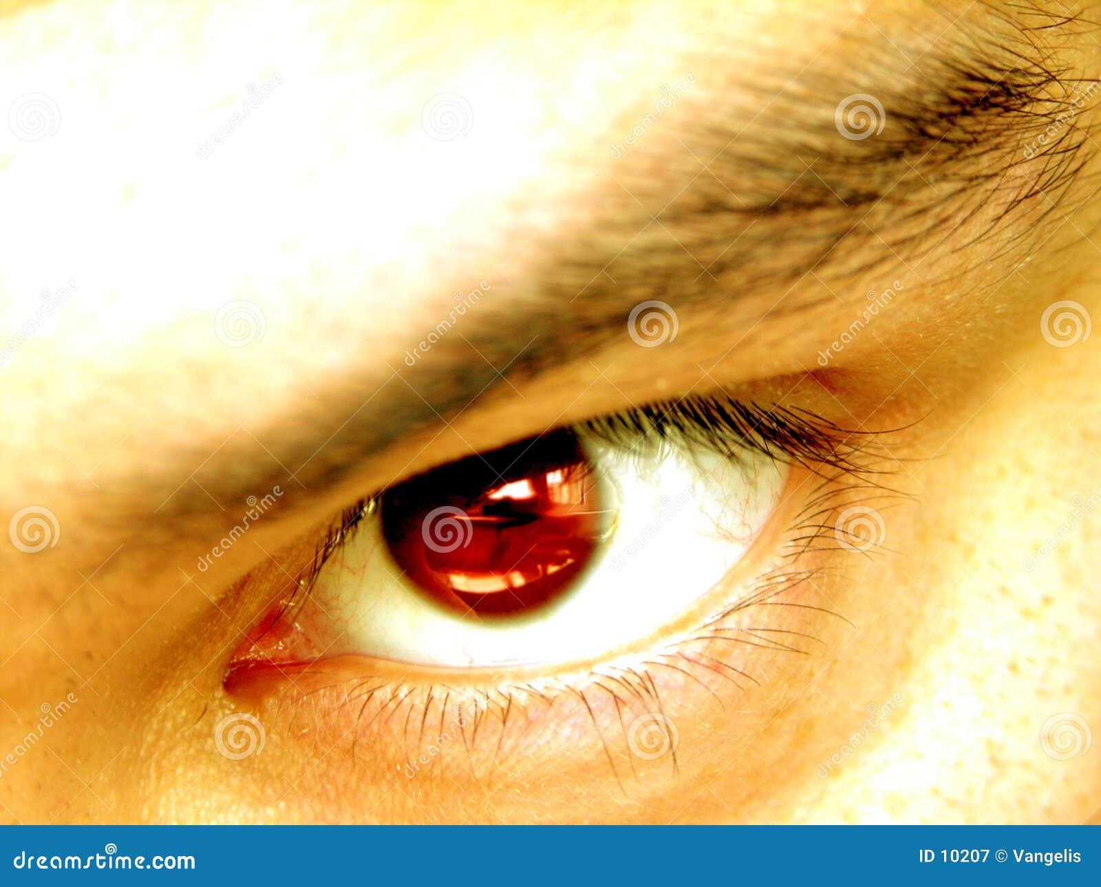 сердитый глаз