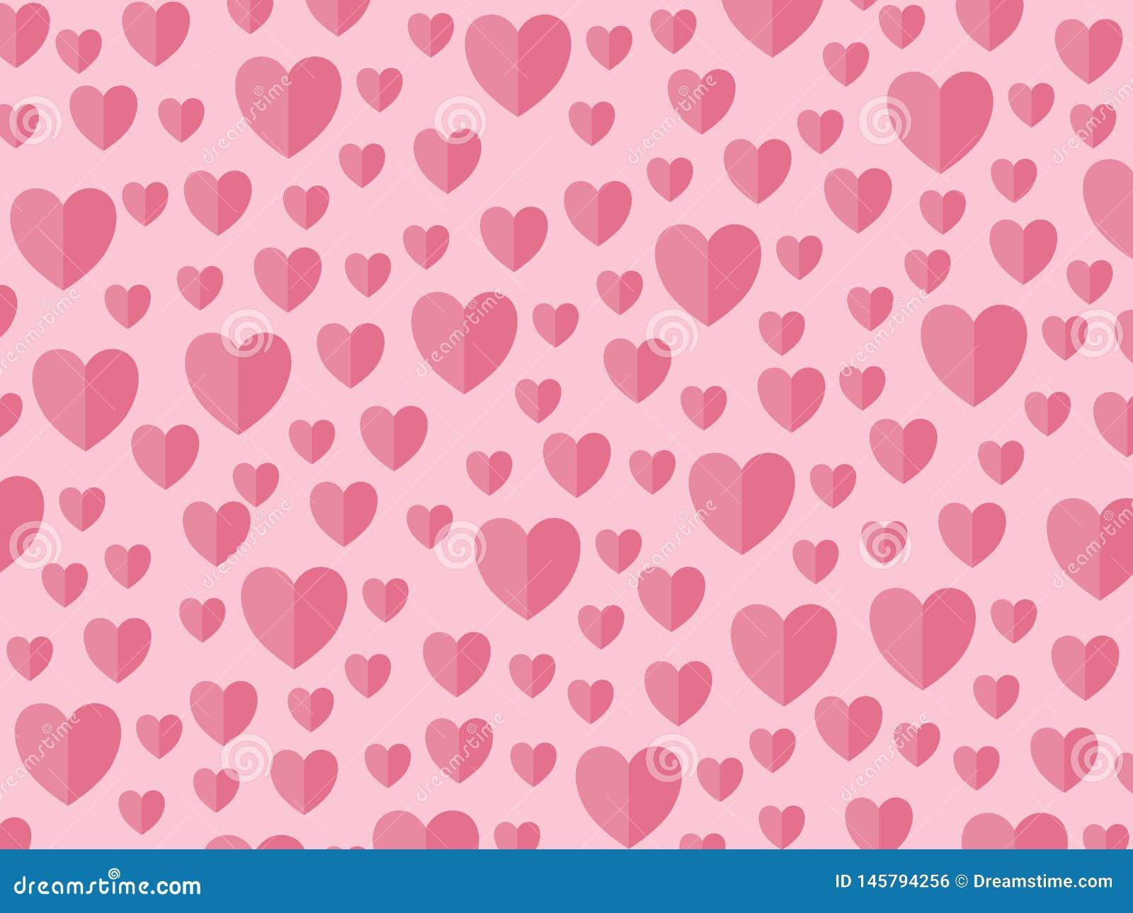 Сердца на розовый день матерей backround, Валентайн