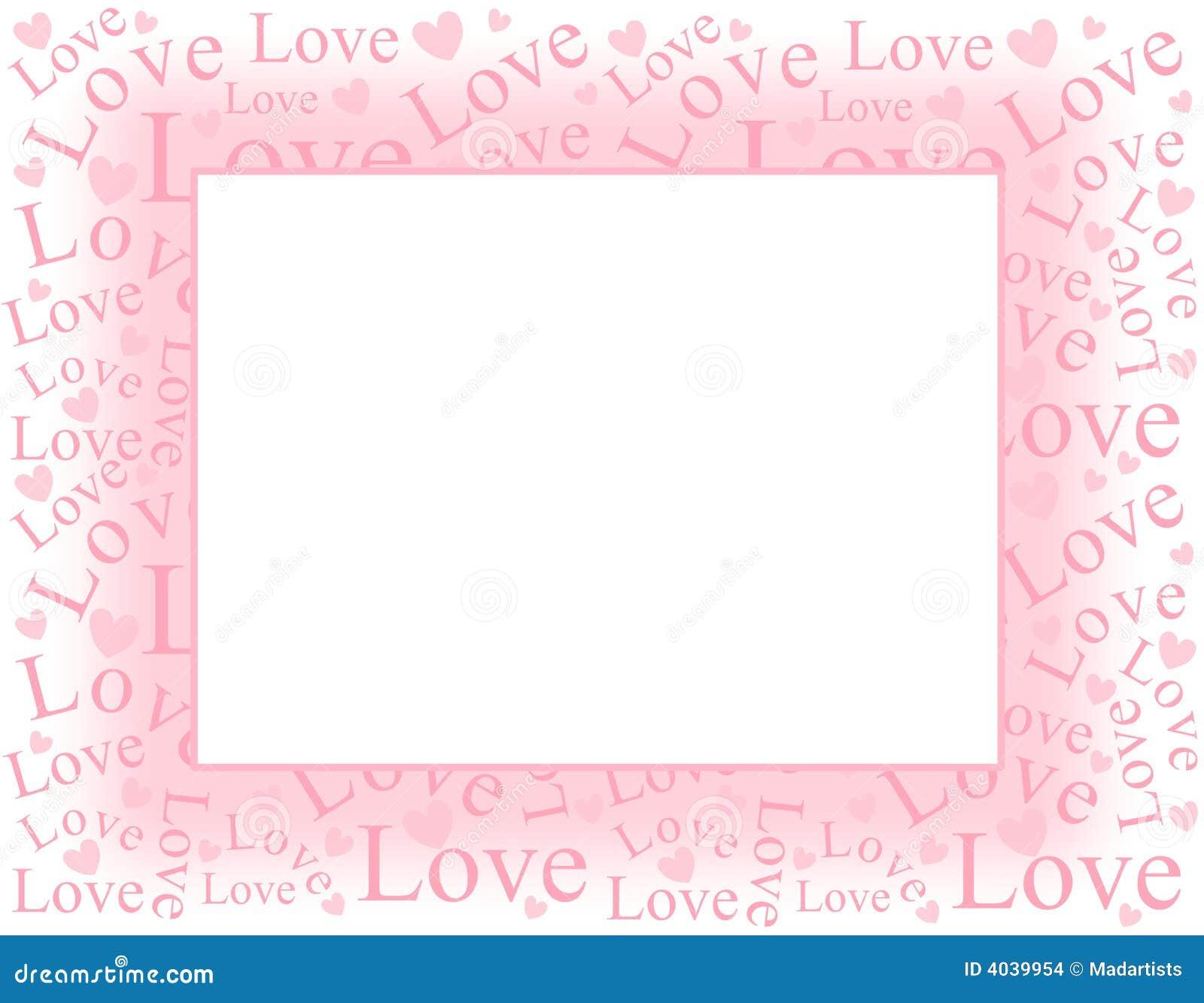 сердца рамки граници любят розовую нежность